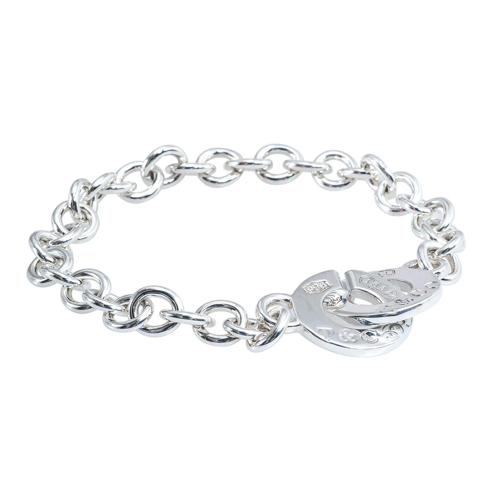 Vintage Tiffany & Co. 1837 Interlocking Circle Link Bracelet