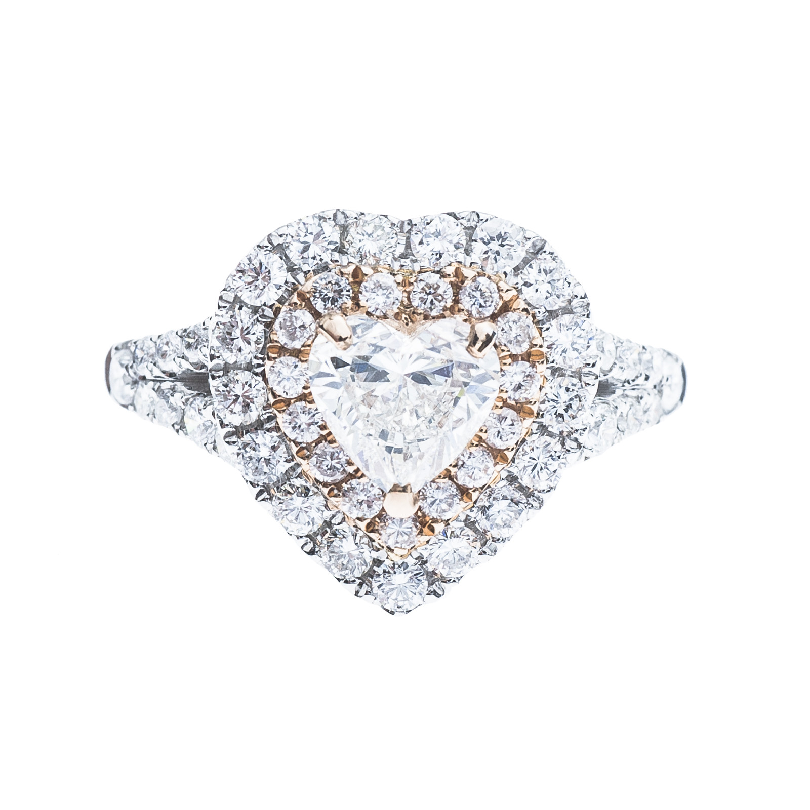 New 1.96 CTW Diamond Halo Engagement Ring