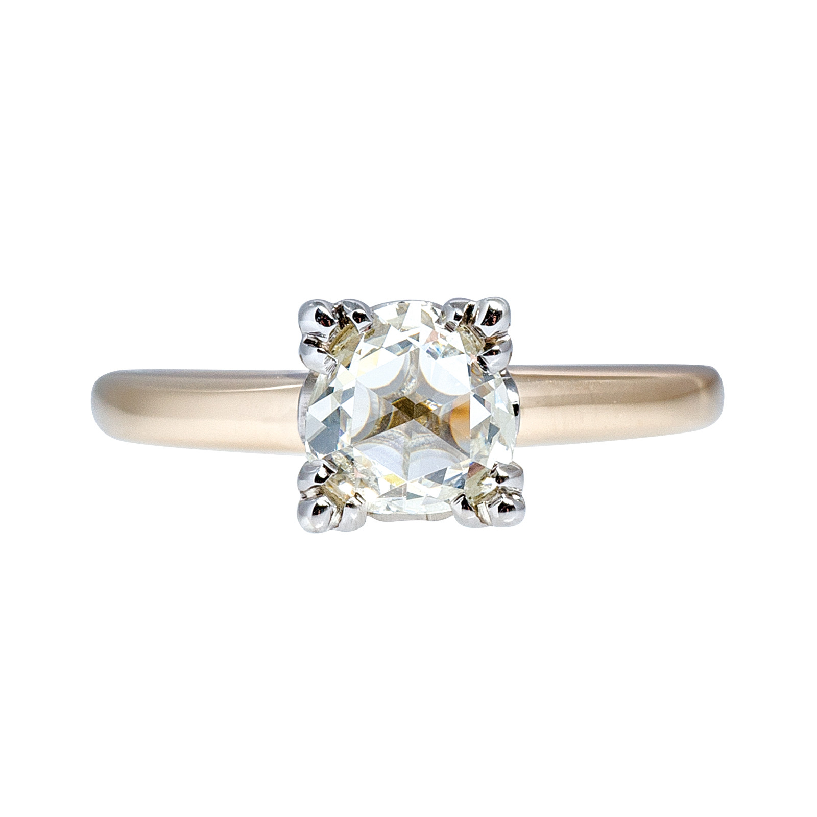 Vintage 0.71 CT Diamond Solitaire Engagement Ring