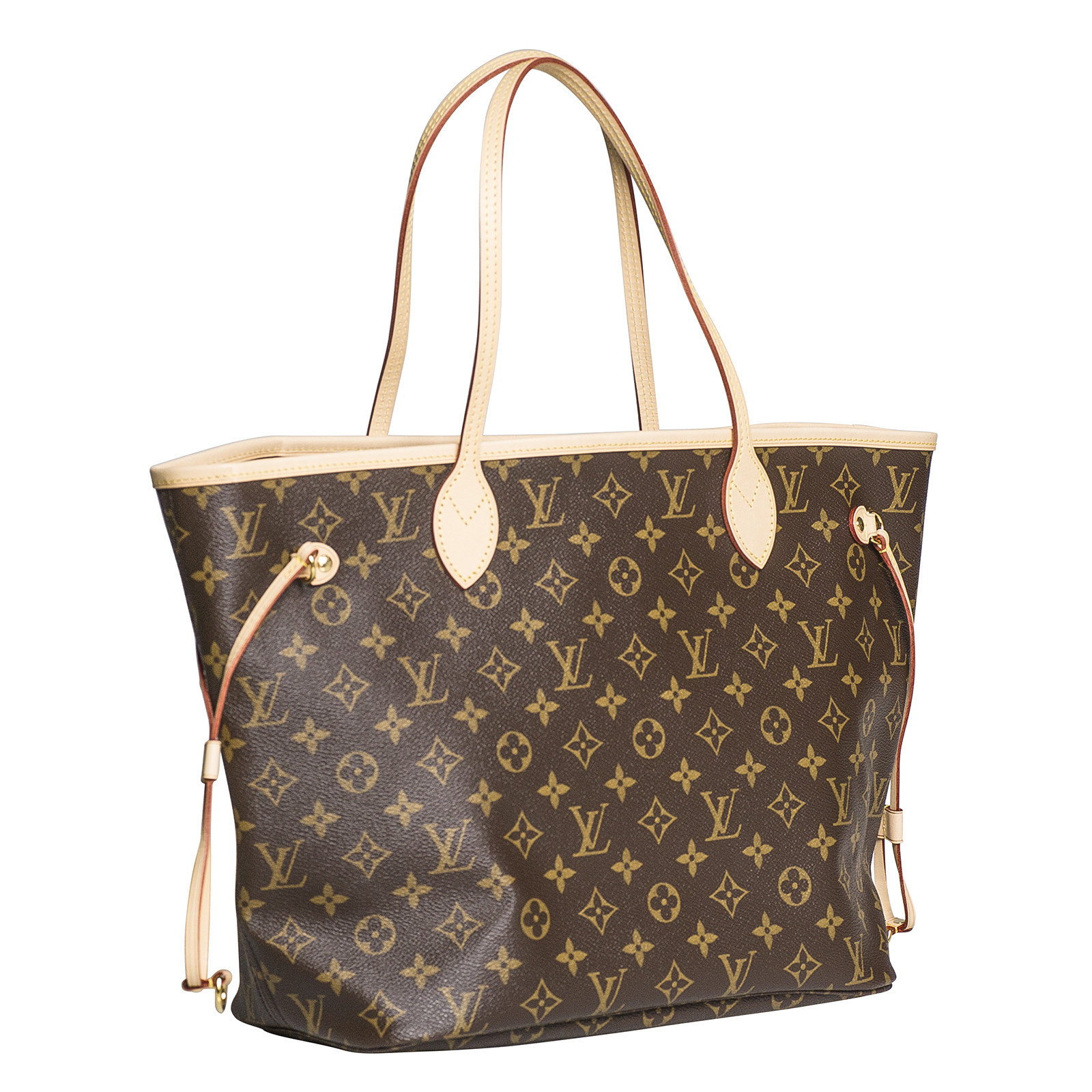 Vintage Louis Vuitton Monogram Neverfull MM Tote Handbag