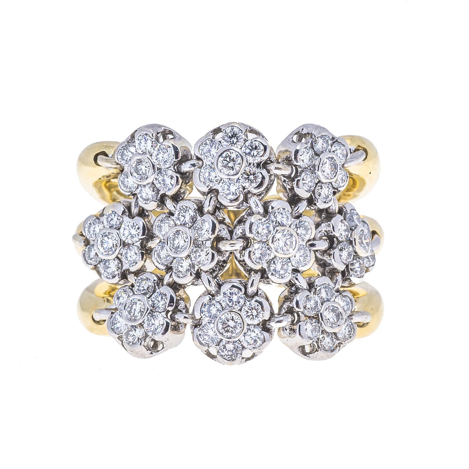 Vintage Sonia B. 1.80 CTW Diamond Flower Ring