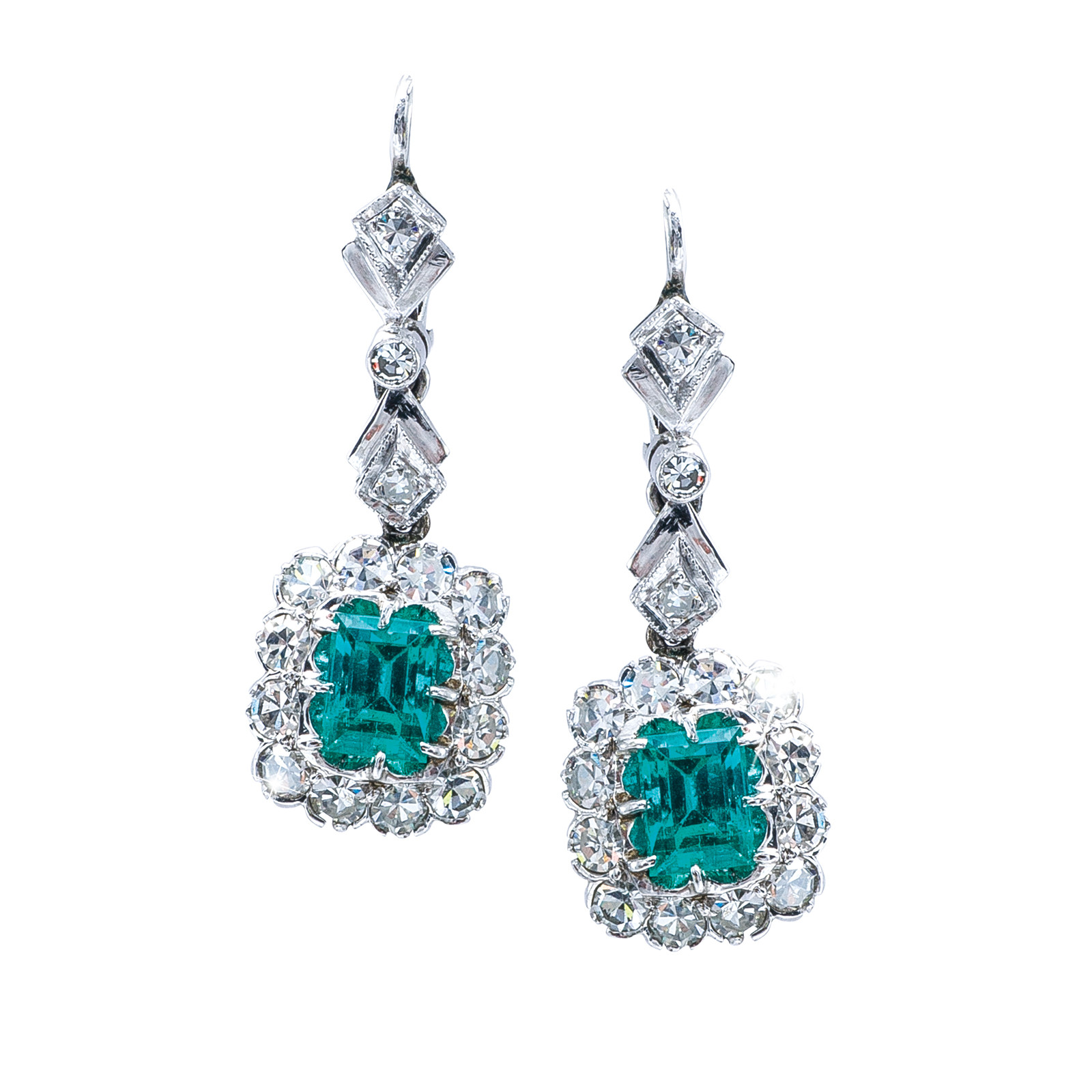 2.05 ctw emerald & diamond