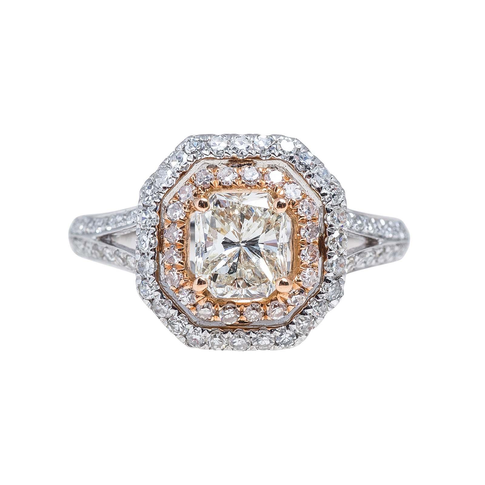 New 1.79 CTW Diamond Halo Ring
