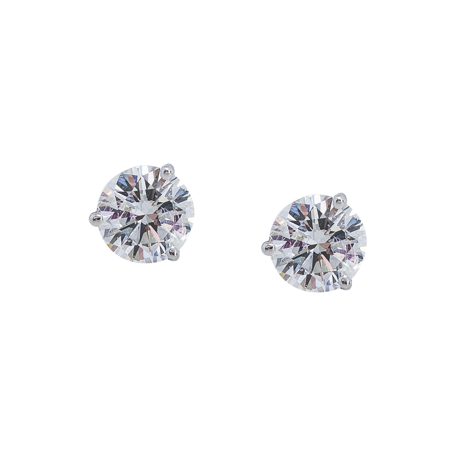 New 2.09 CTW Diamond Stud Earrings