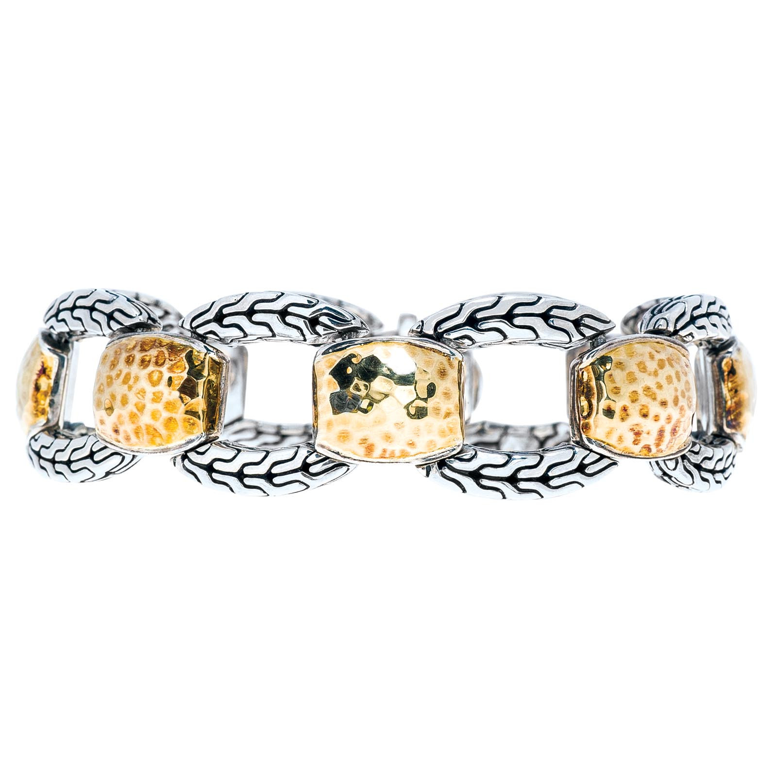 Vintage John Hardy Hammered Chain Link Bracelet