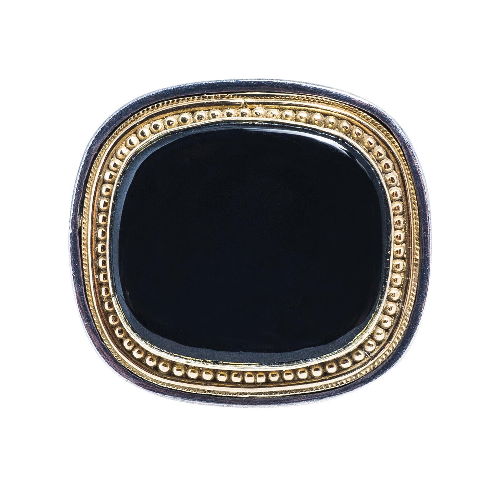 Vintage Konstantino Black Onyx Ring