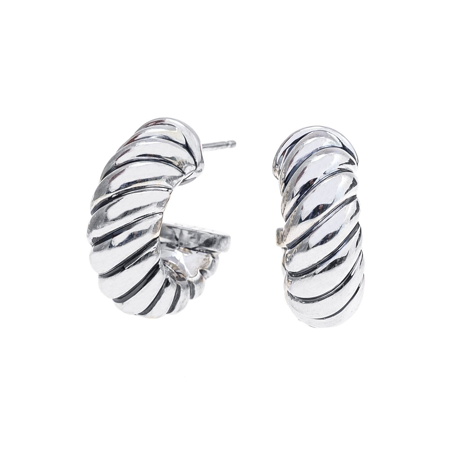 Vintage David Yurman Cable Classics Hoop Earrings