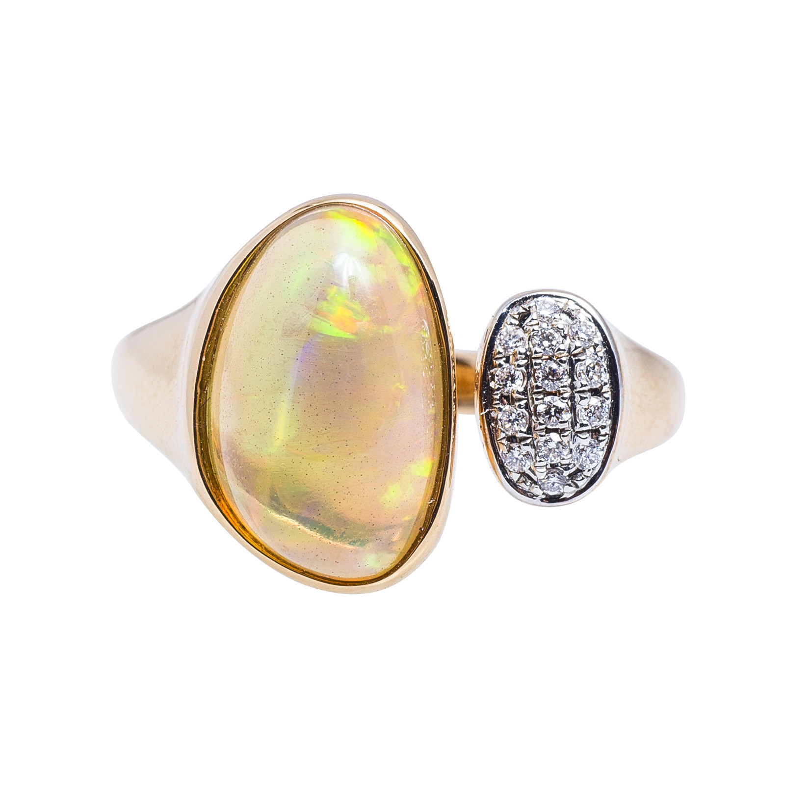 New 3.04 CTW Diamond and Opal Ring