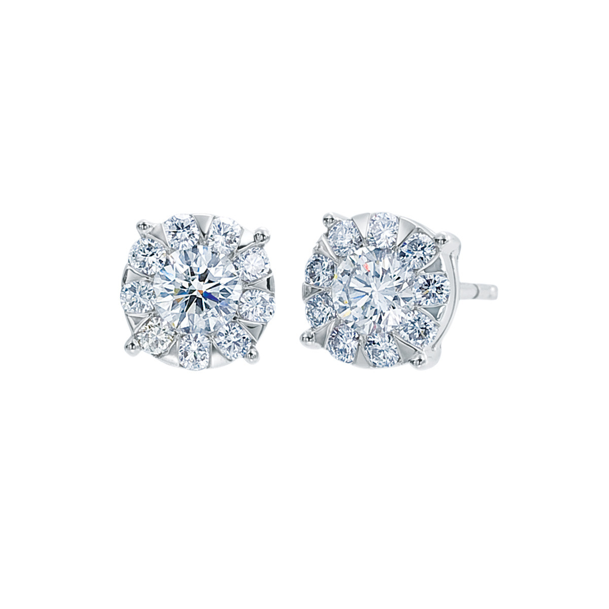 New Mémoire 0.17 CTW Diamond Bouquet Earrings