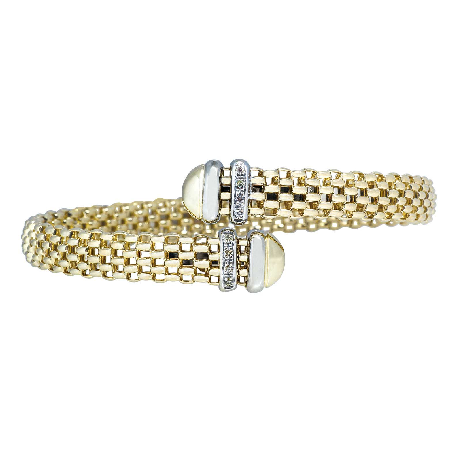 Vintage 0.08 CTW Diamond Cuff Bracelet