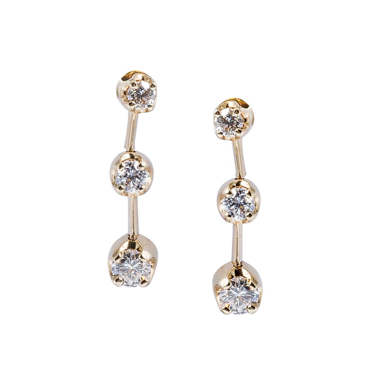 Vintage 0.90 CTW Diamond Drop Earrings