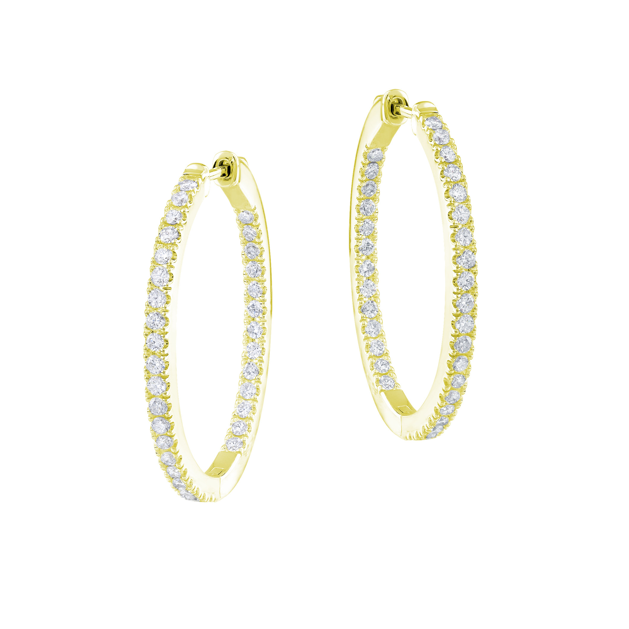 New Mémoire 0.50 CTW Diamond Hoop Earrings