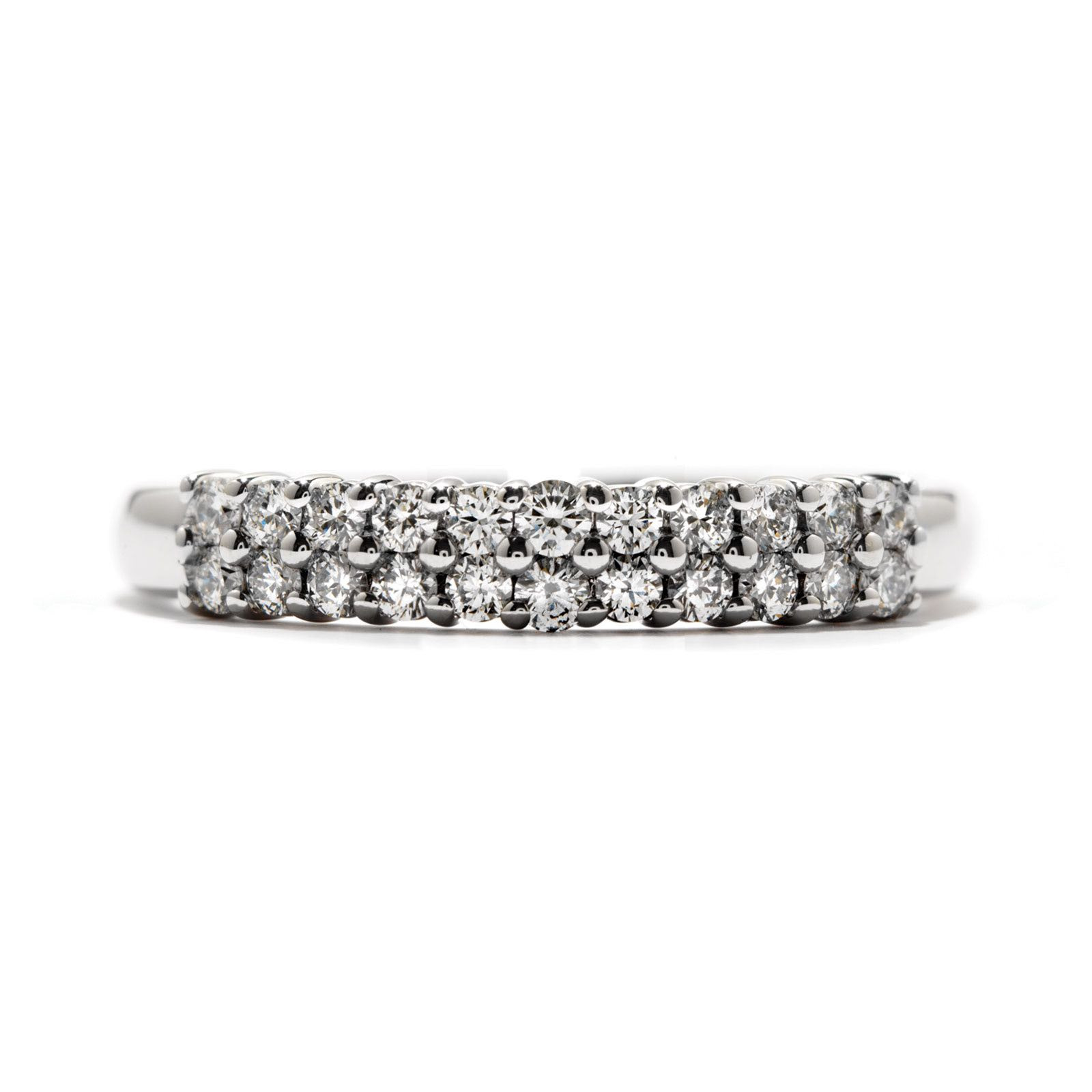 New Hearts On Fire® 0.76 CTW Truly Classic Double Row Ring