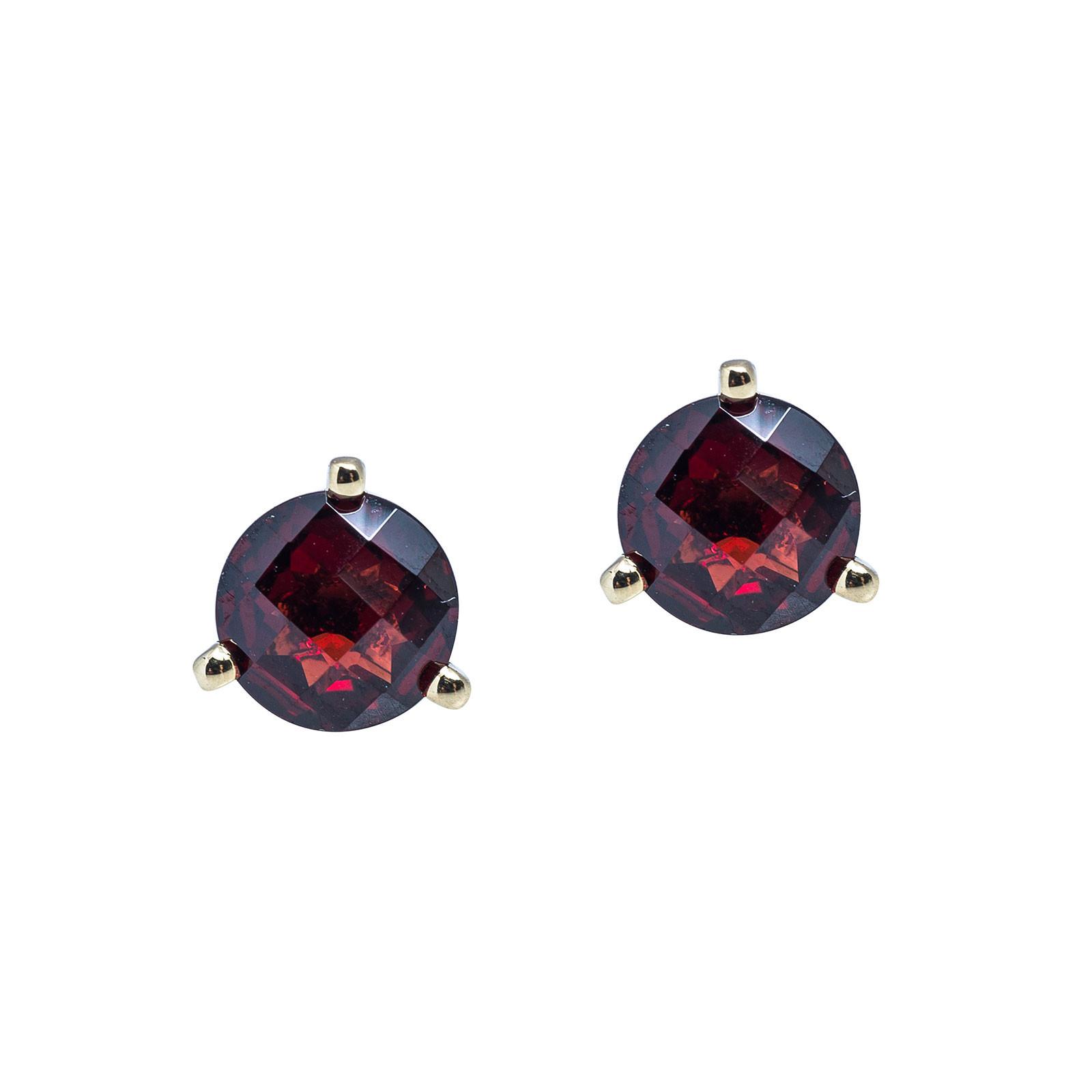 New 1.96 CTW Garnet Stud Earrings