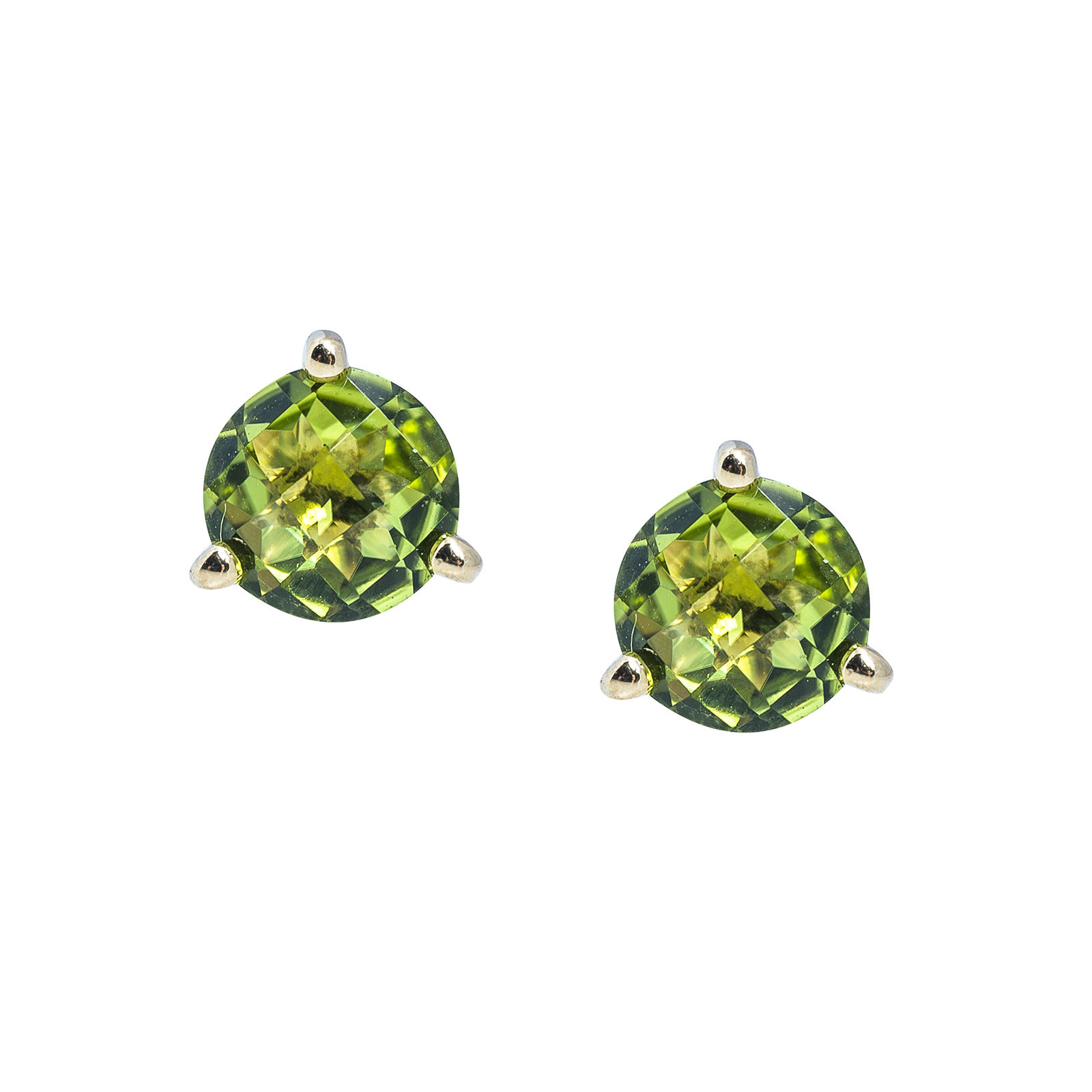 New 1.72 CTW Peridot Stud Earrings