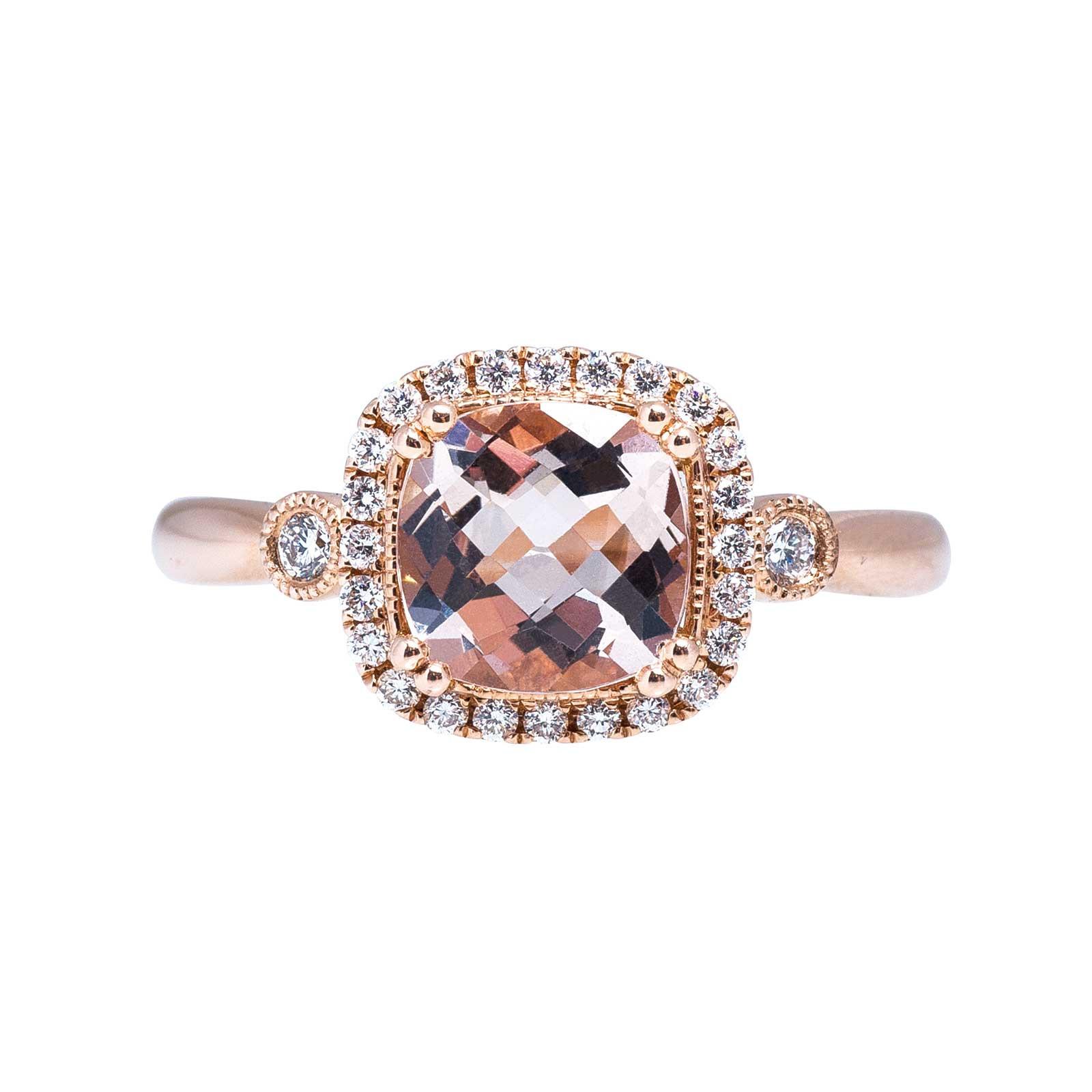 New 1.67 CTW Morganite & Diamond Ring
