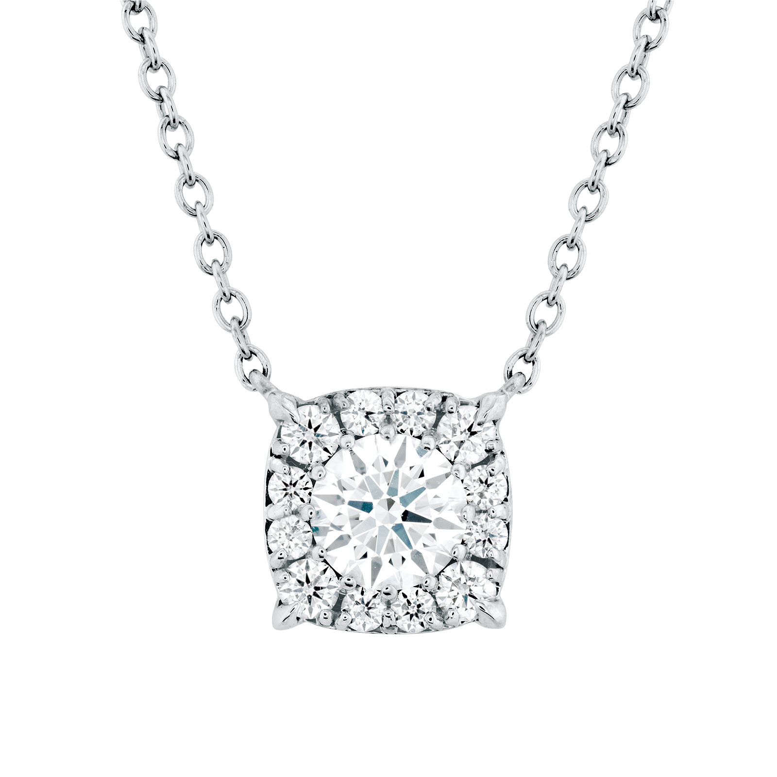 New Hearts On Fire® 0.24 CTW Diamond Halo Necklace