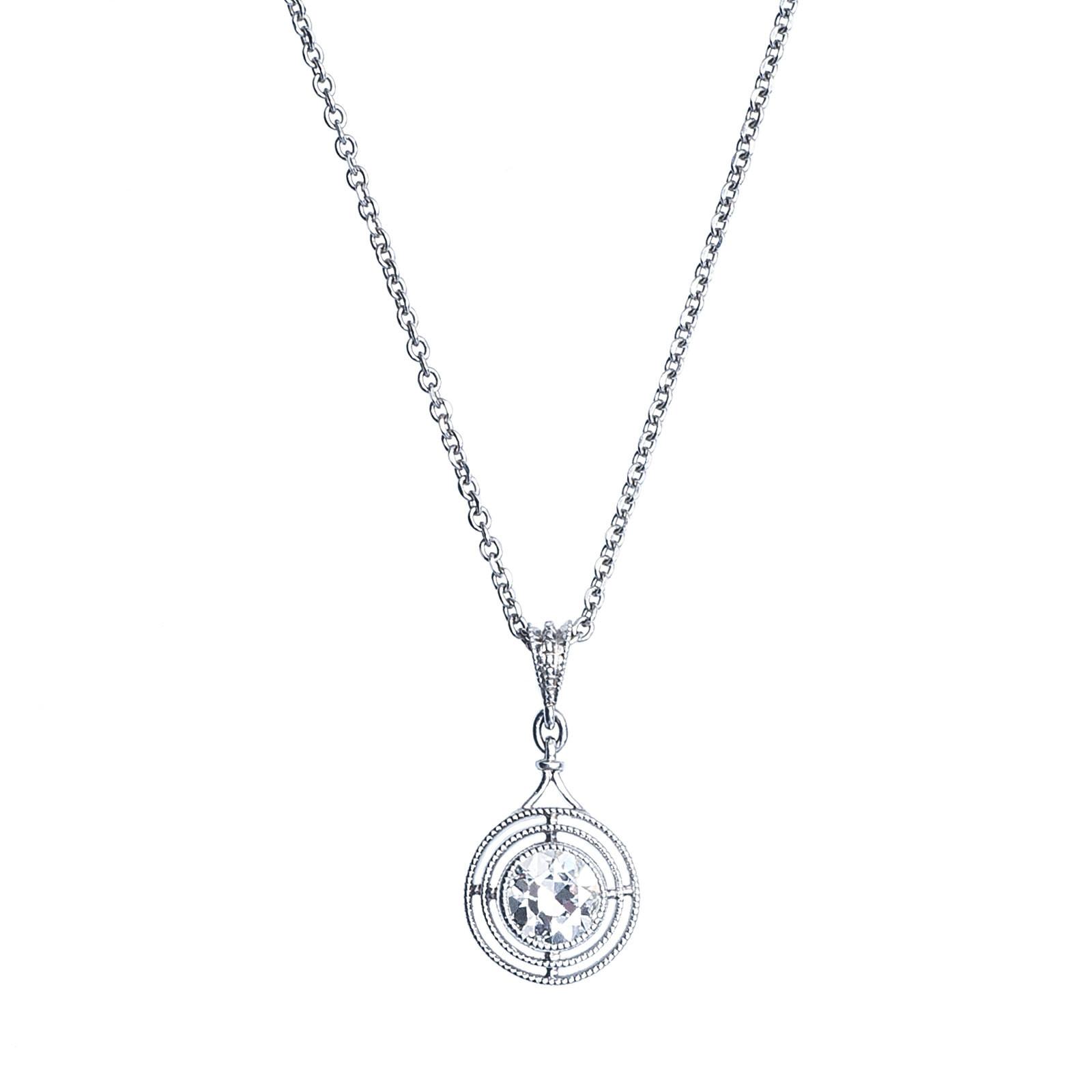 Vintage 0.37 CTW Diamond Necklace
