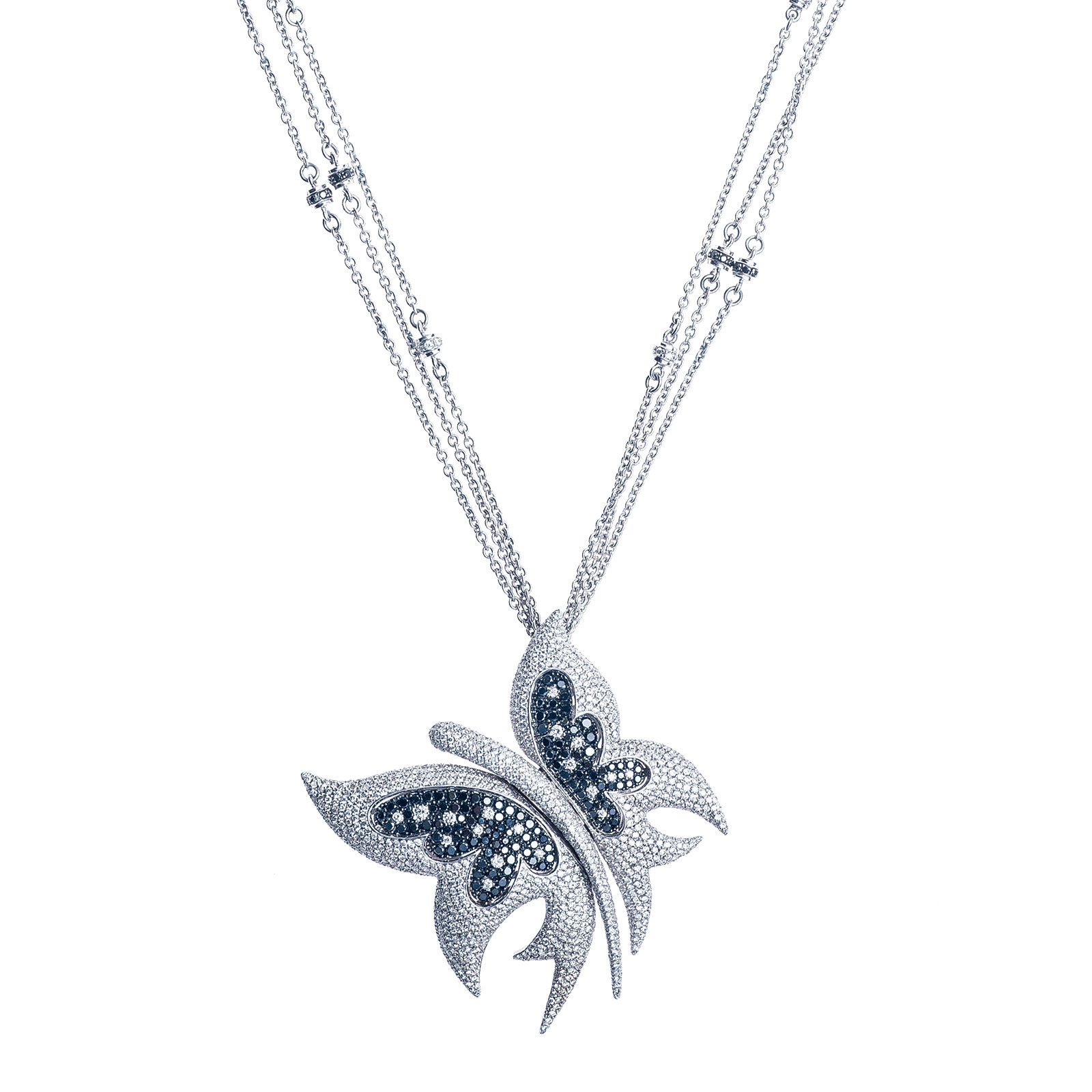 Vintage 5.01 CTW Diamond Butterfly Necklace