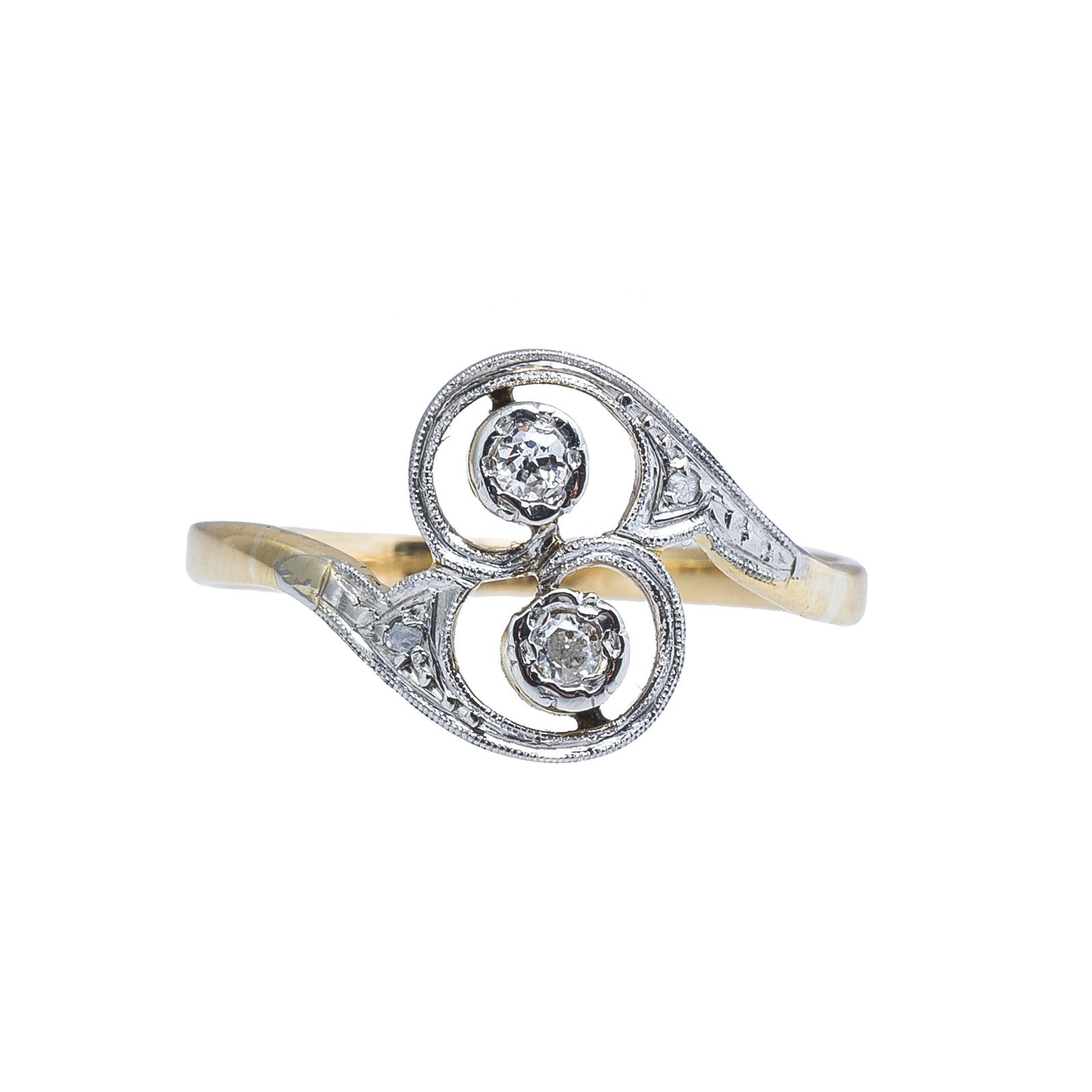 Vintage 0.08 CTW Diamond Swirl Ring