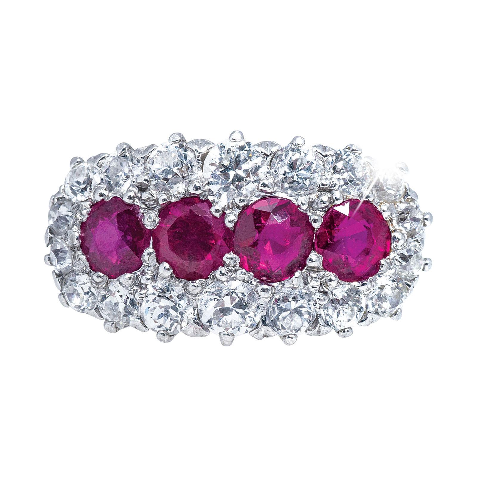 Antique 1.91 CTW Diamond & Ruby Ring