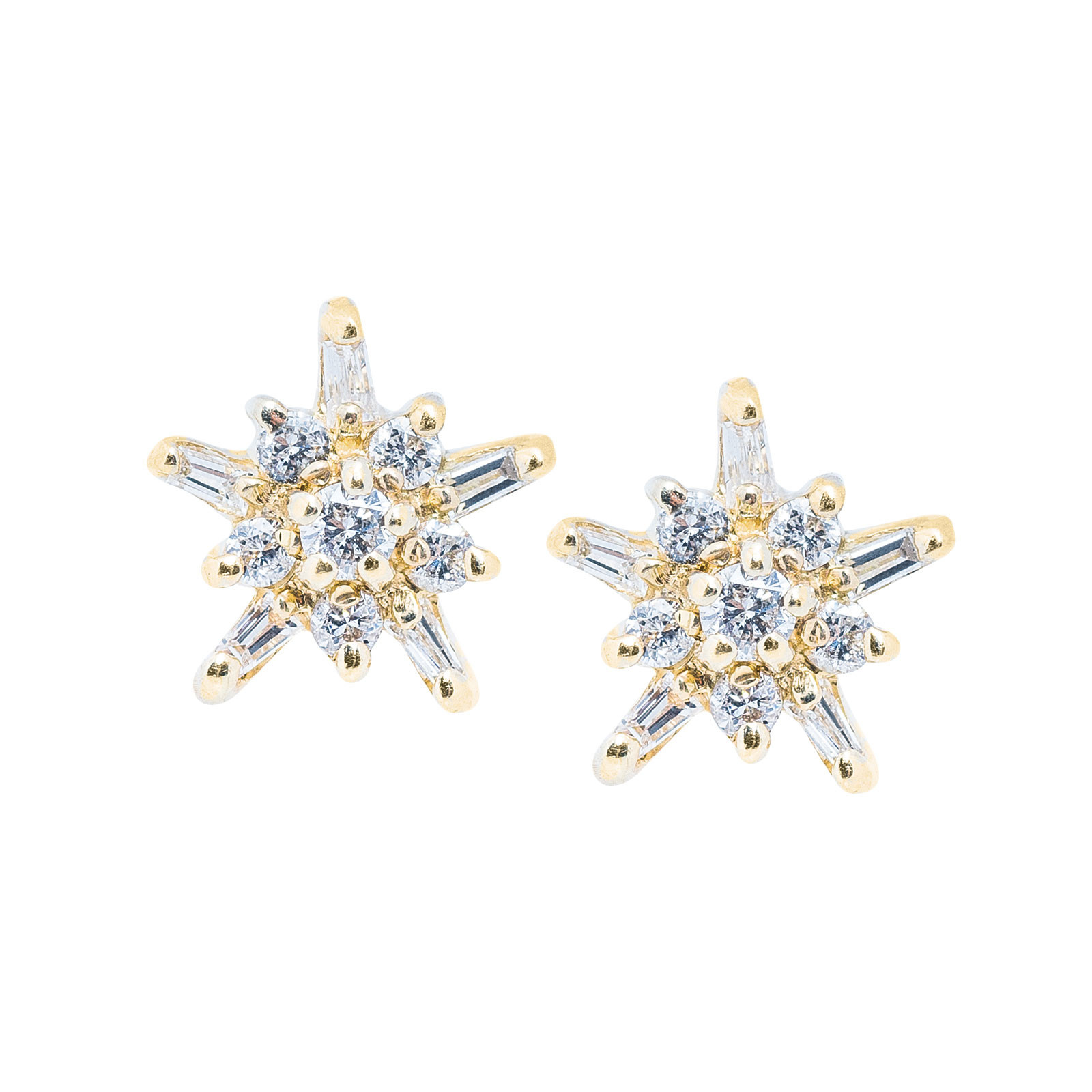 Vintage 0.24 CTW Diamond Cluster Earrings