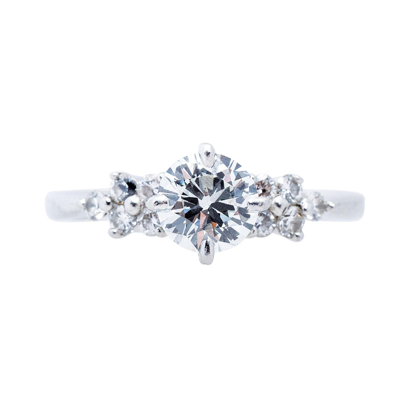 Vintage 0.81 CTW Diamond Engagement Ring