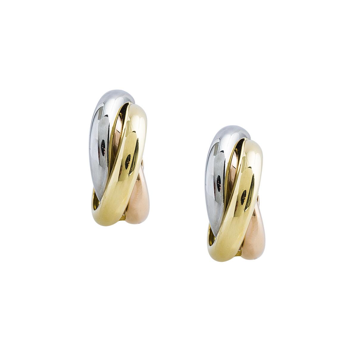 Vintage Cartier Trinity De Cartier Hoop Earrings