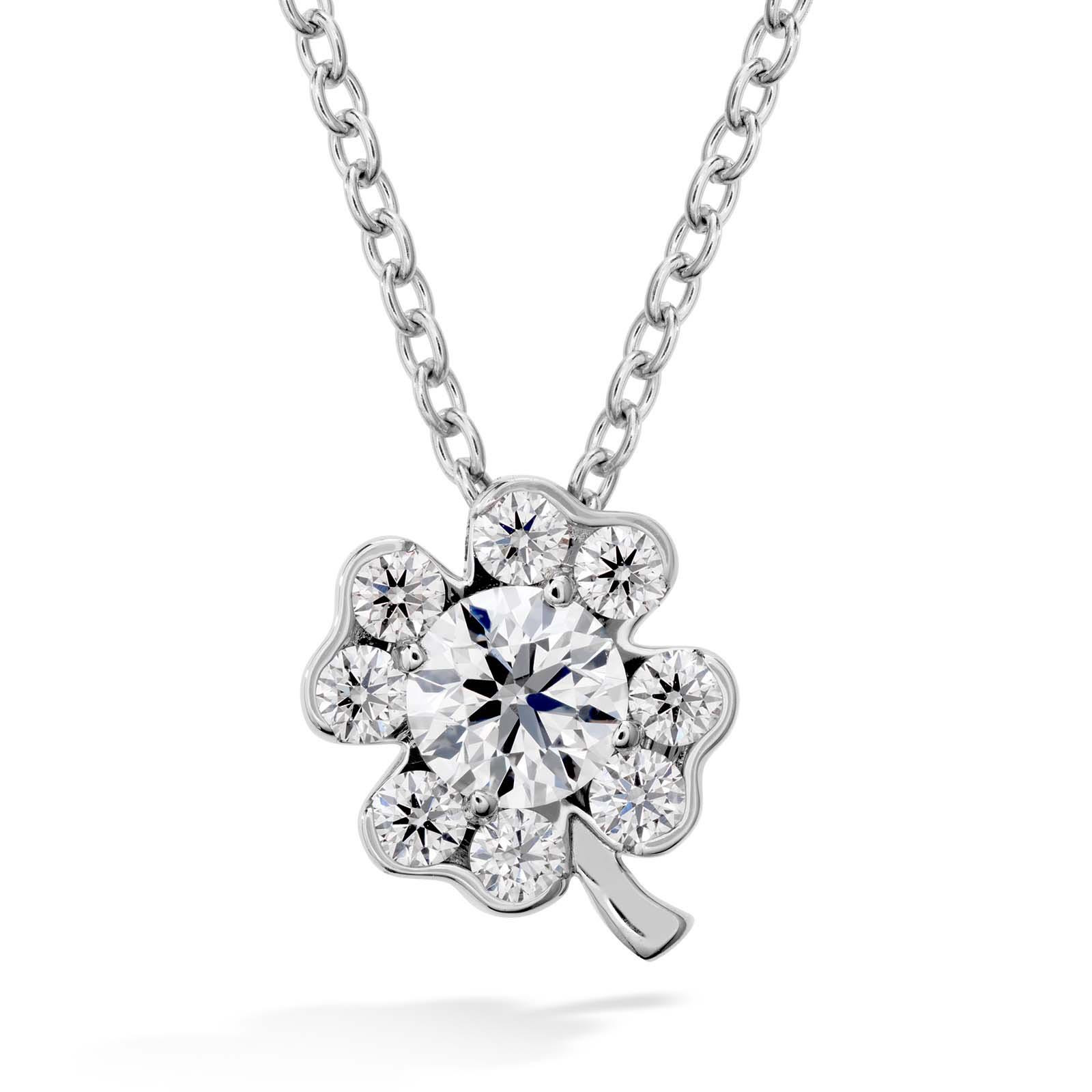 New Hearts On Fire® 0.39 CTW Diamond Fulfillment Clover Necklace