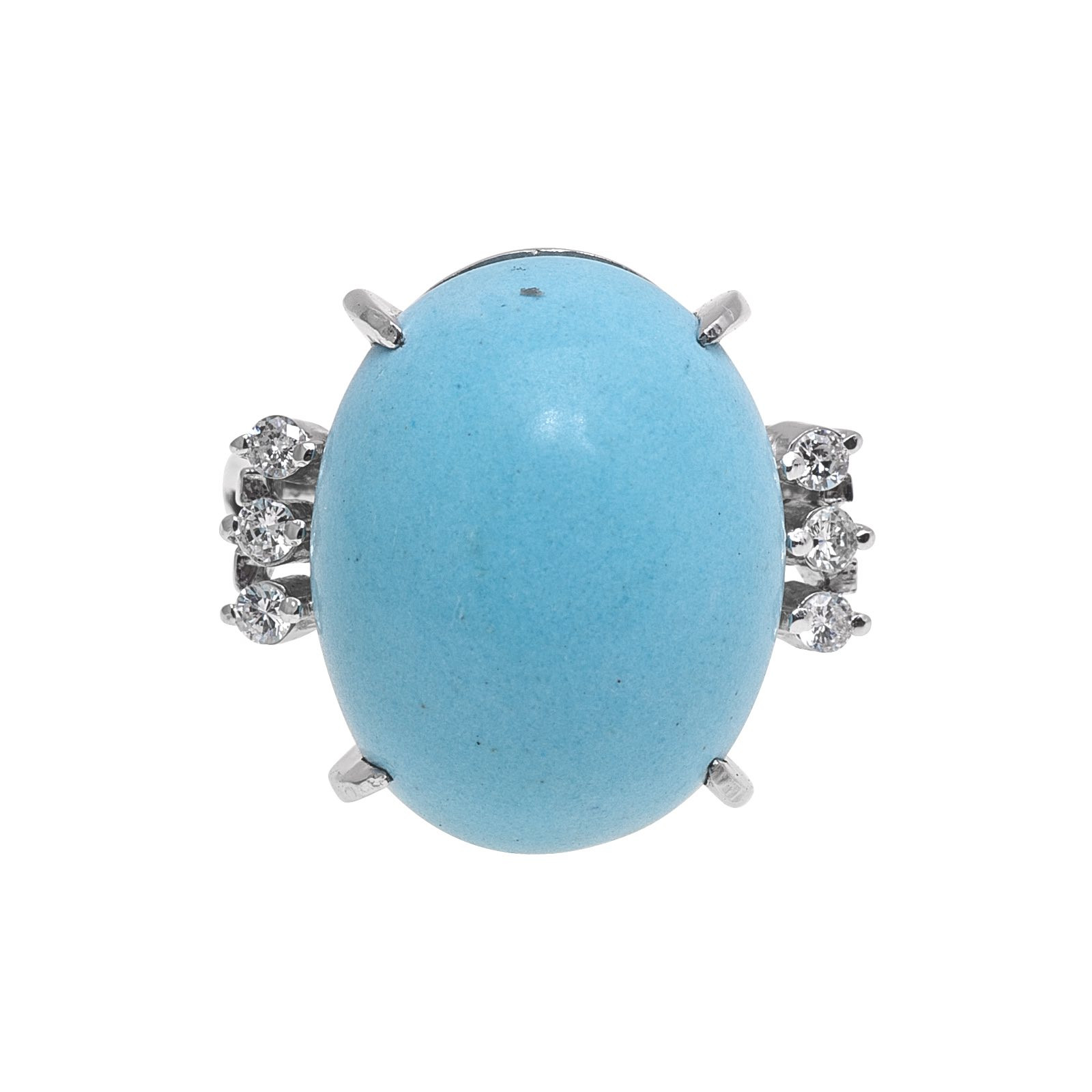 Vintage 0.12 CTW Turquoise & Diamond Ring