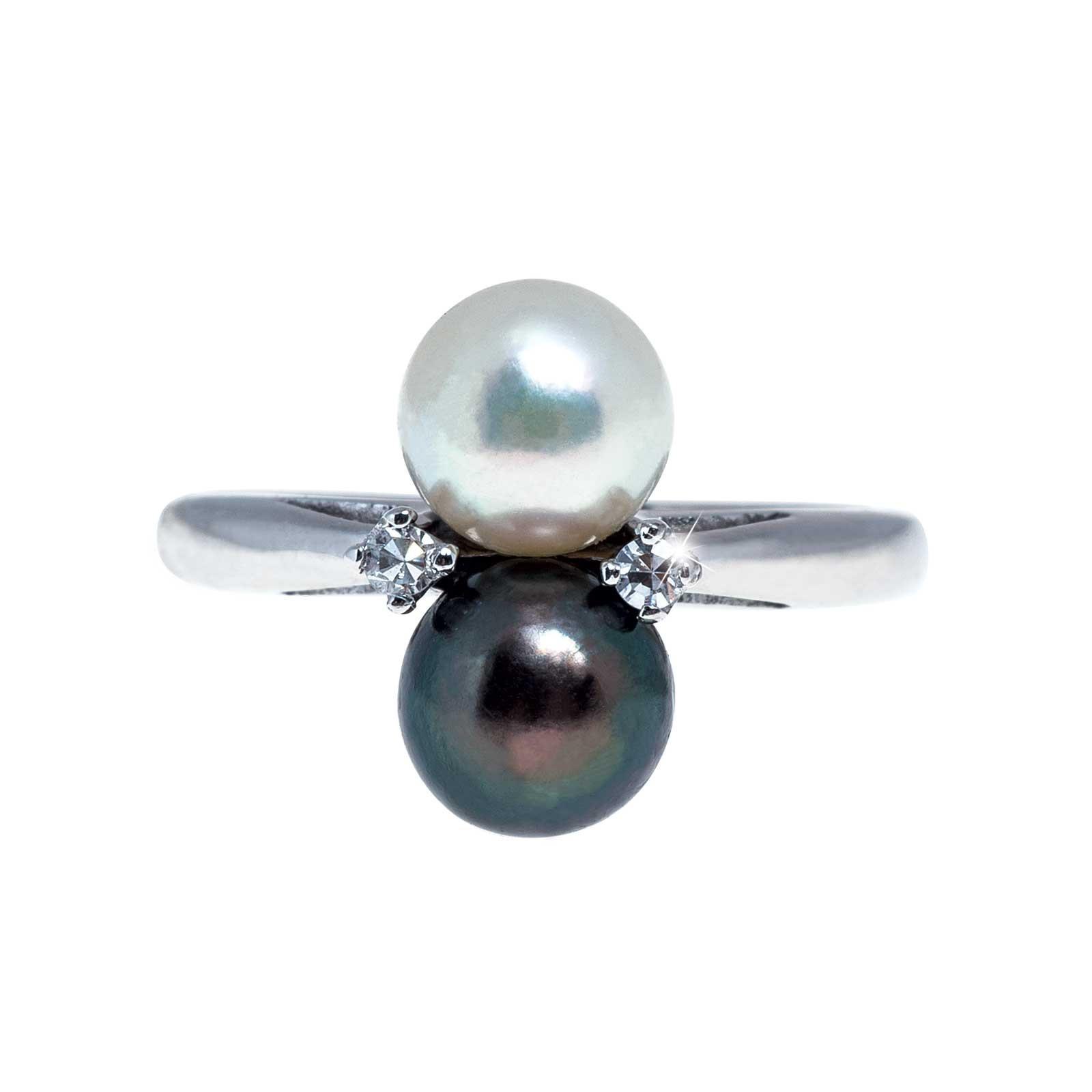 Vintage 0.04 CTW Diamond & Pearl Ring