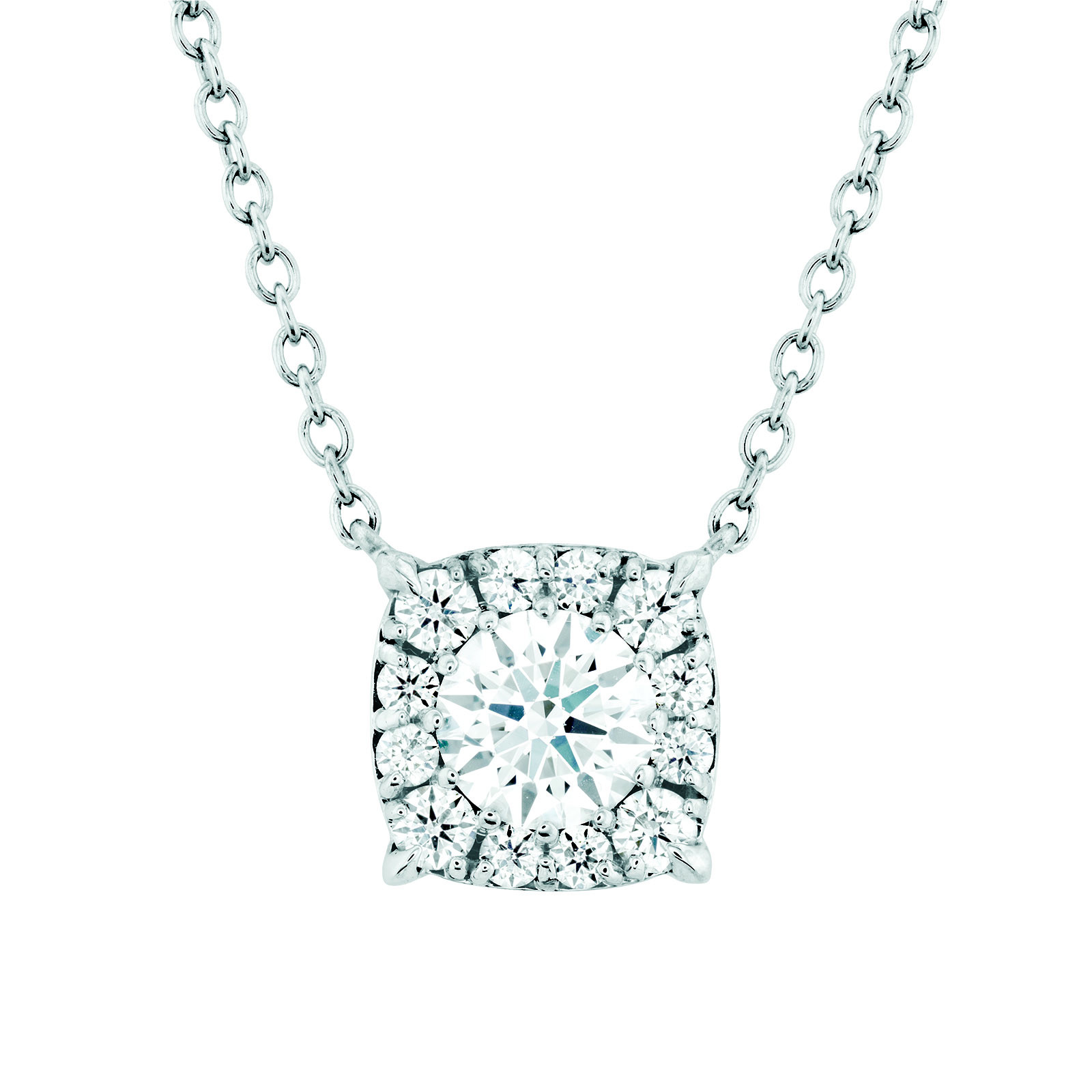 New Hearts On Fire® 0.37 CTW Diamond Halo Necklace