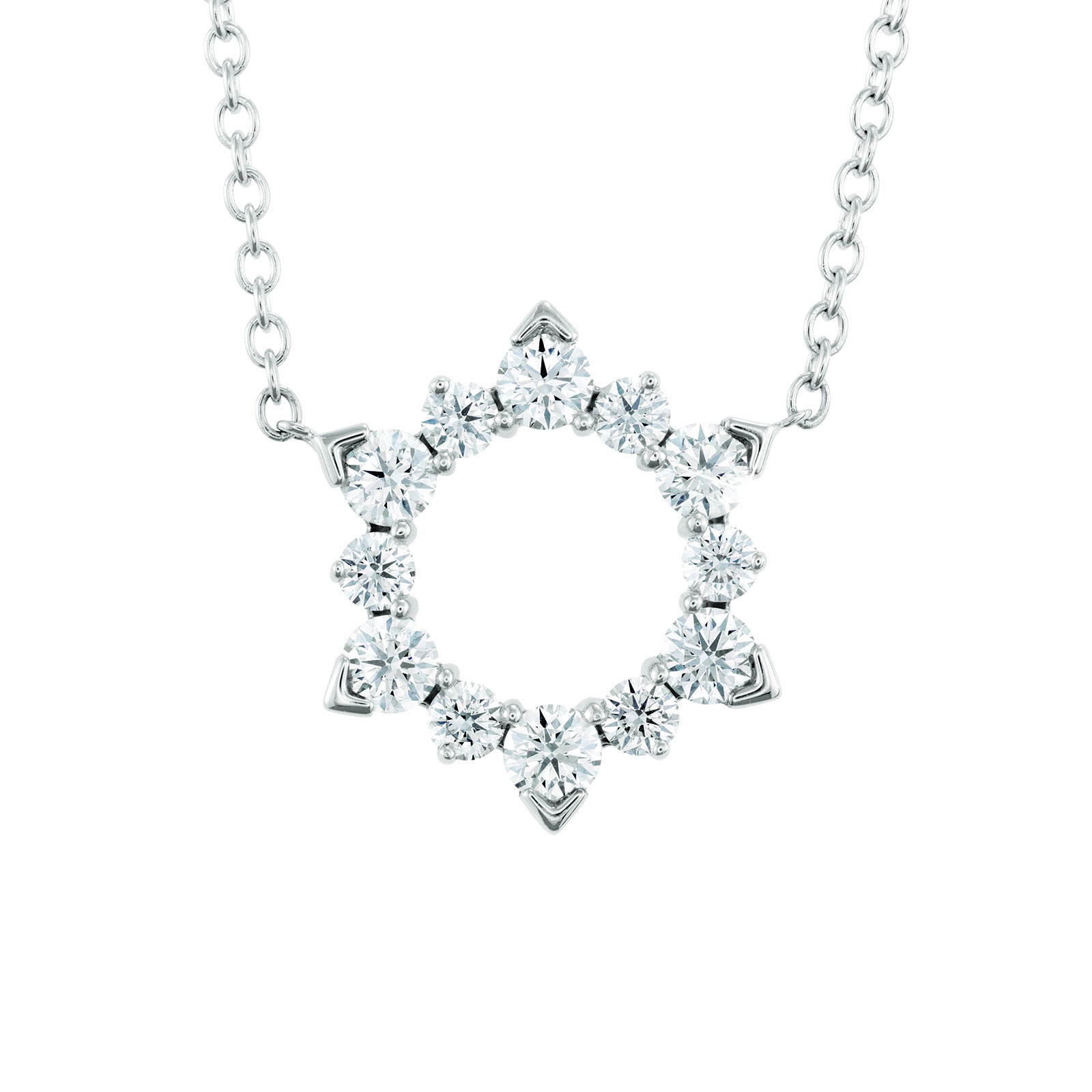 New Hearts On Fire® 1.70 CTW Diamond Aerial Eclipse Necklace