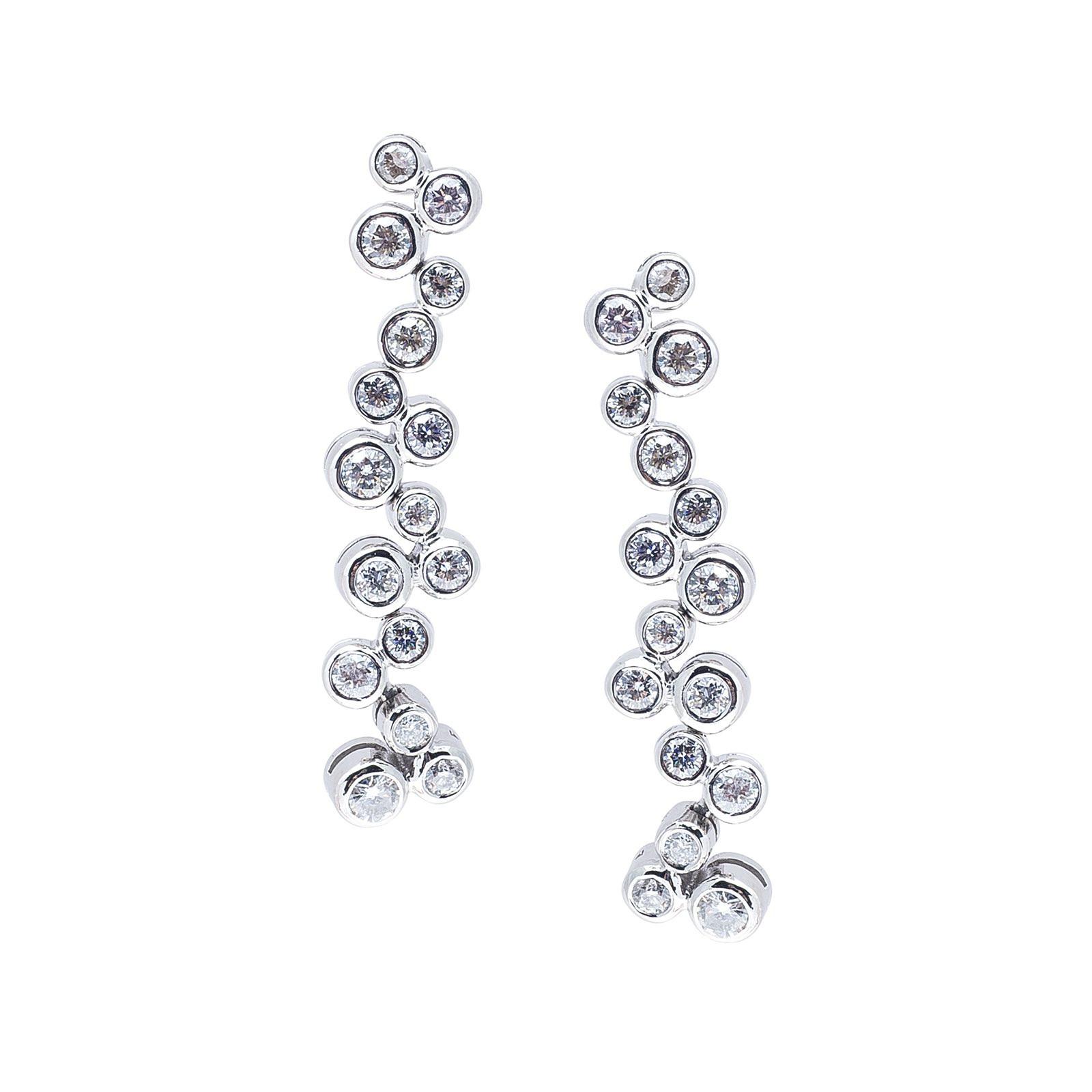 Vintage 2.10 CTW Diamond Dangle Earrings