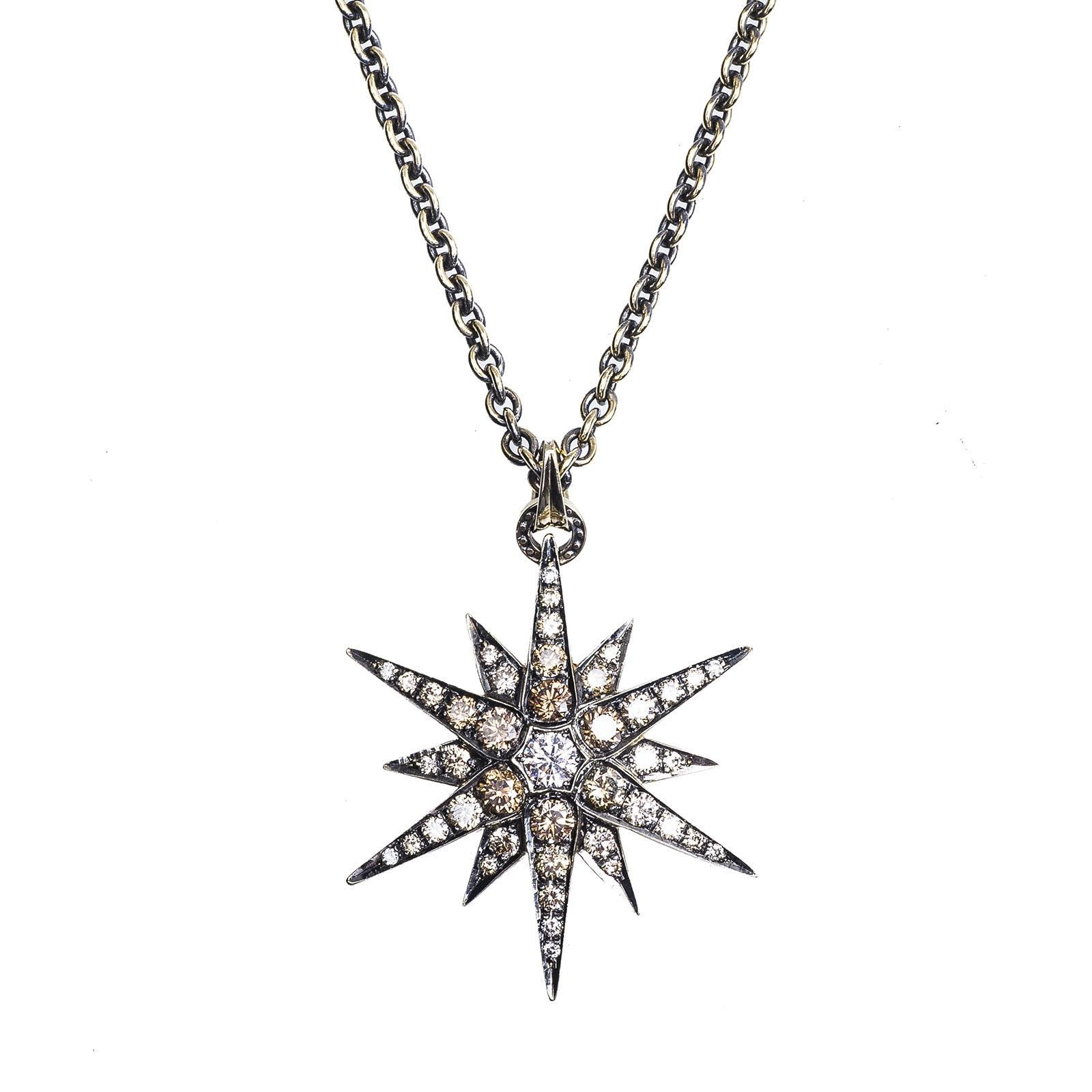Vintage H Stern 2 88 Ctw Cognac Diamond Star Necklace
