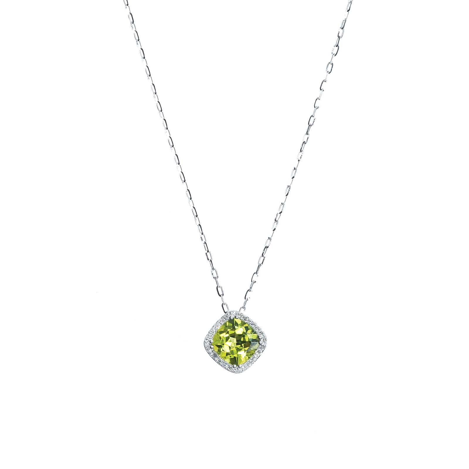 New Madison L 1.62 CTW Peridot & Diamond Necklace