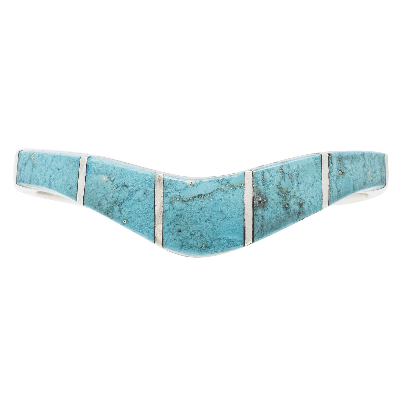 Vintage Turquoise Bar Bangle Bracelet