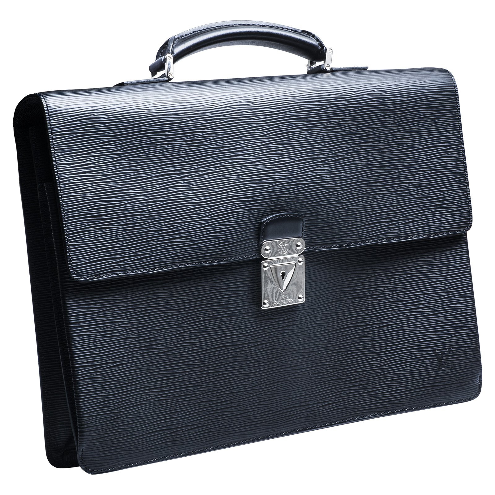 Vintage Louis Vuitton Black Noir Epi Robusto Briefcase