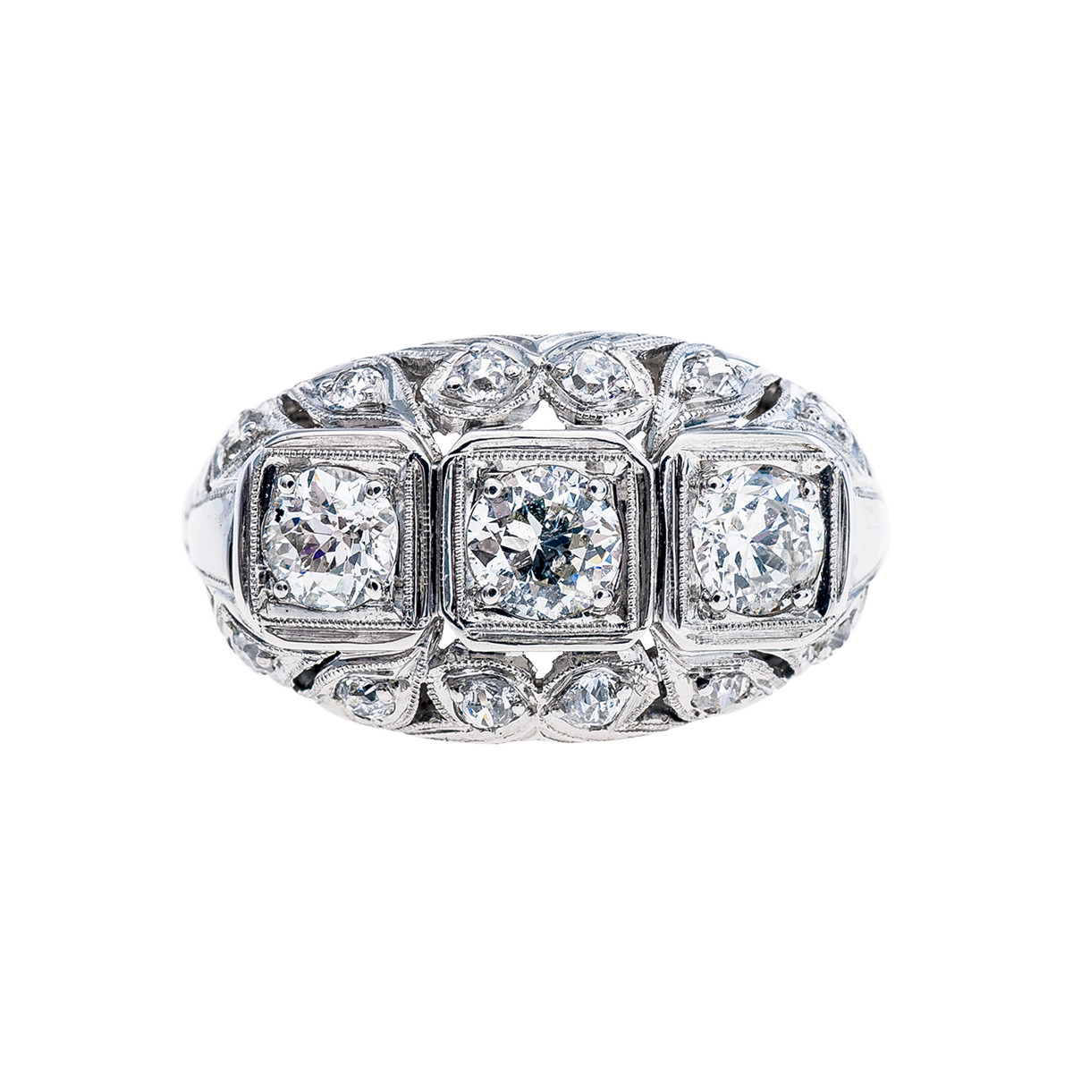 Vintage Art Deco 0.96 CTW Diamond Ring
