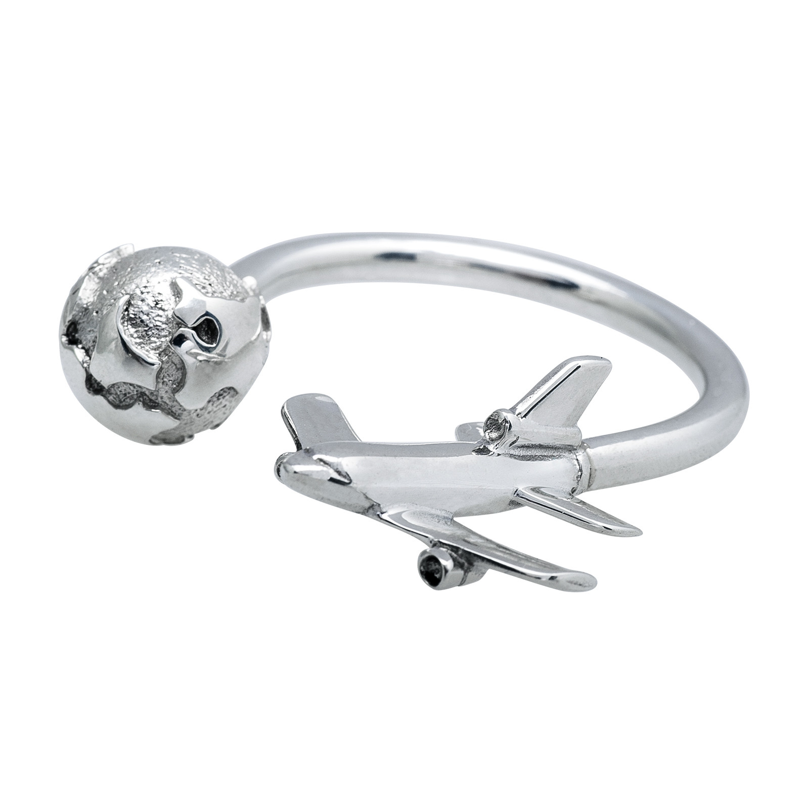 Vintage Tiffany & Co. Airplane & Globe Keychain