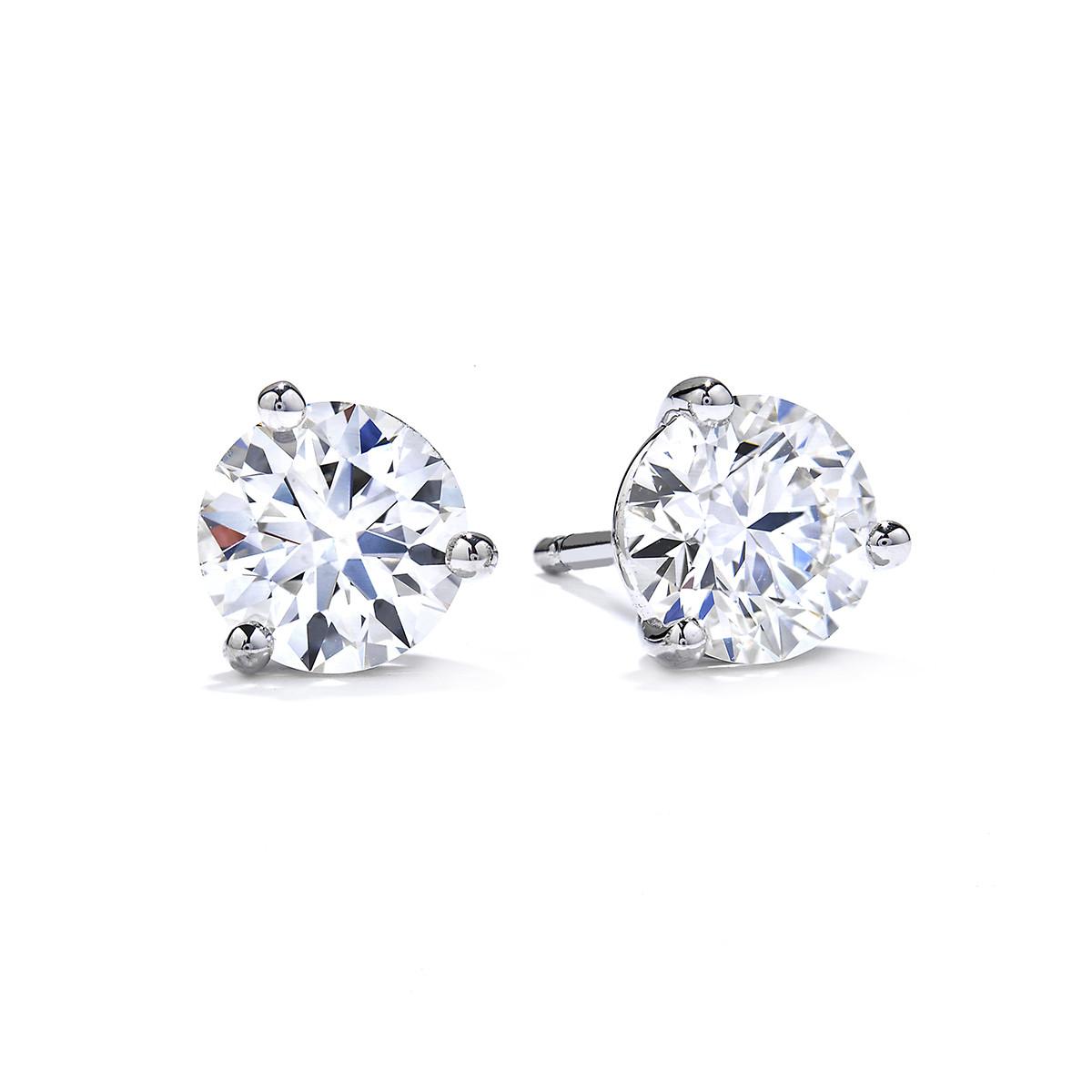 New Hearts On Fire® 2.098 CTW Diamond Stud Earrings