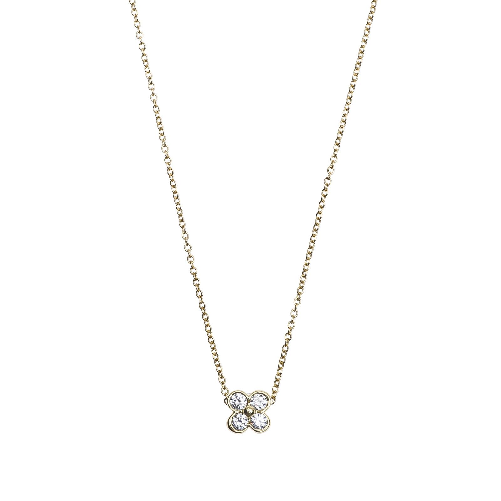 Vintage Tiffany & Co. 0.20 CTW Diamond Cluster Necklace