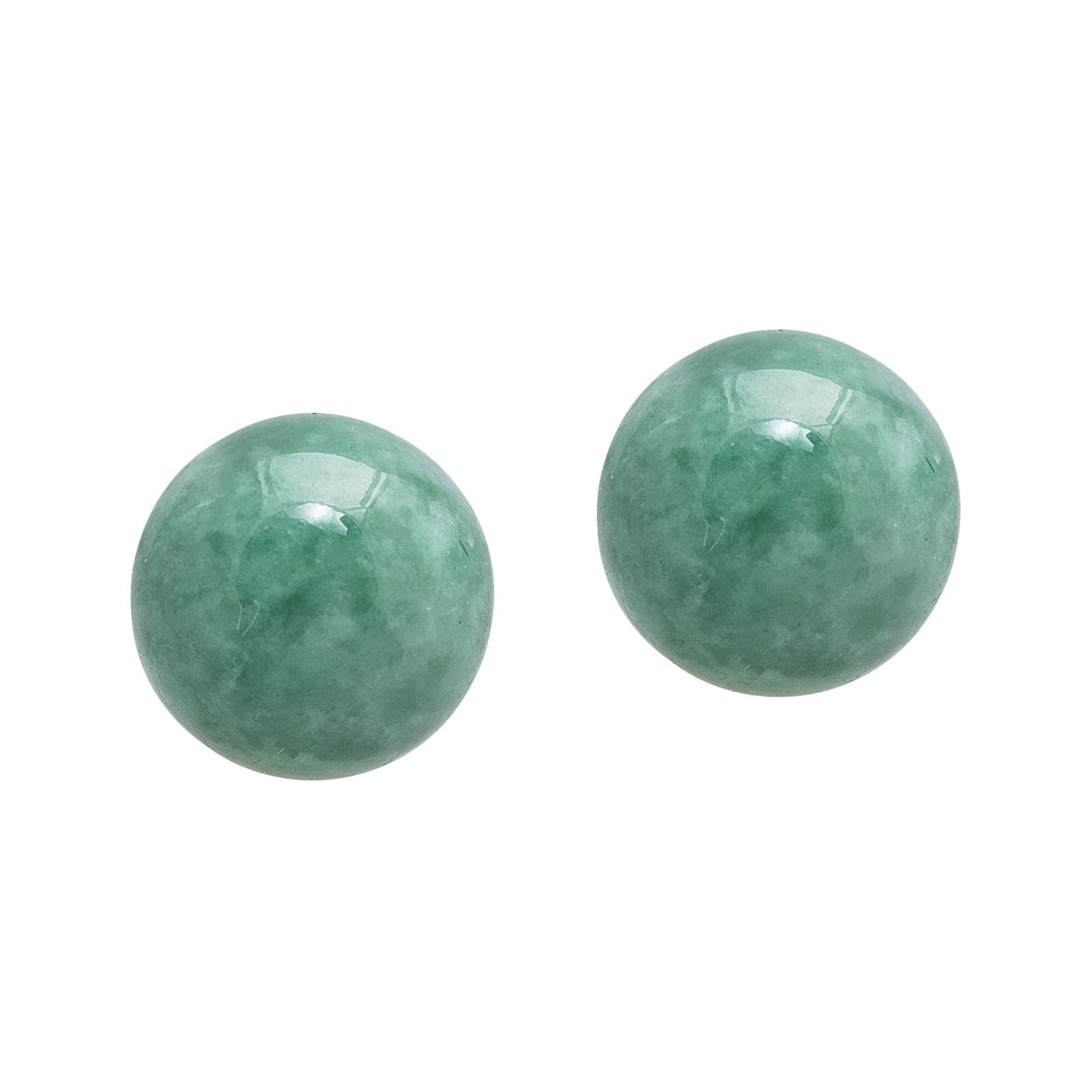 Vintage Green Jade Earrings