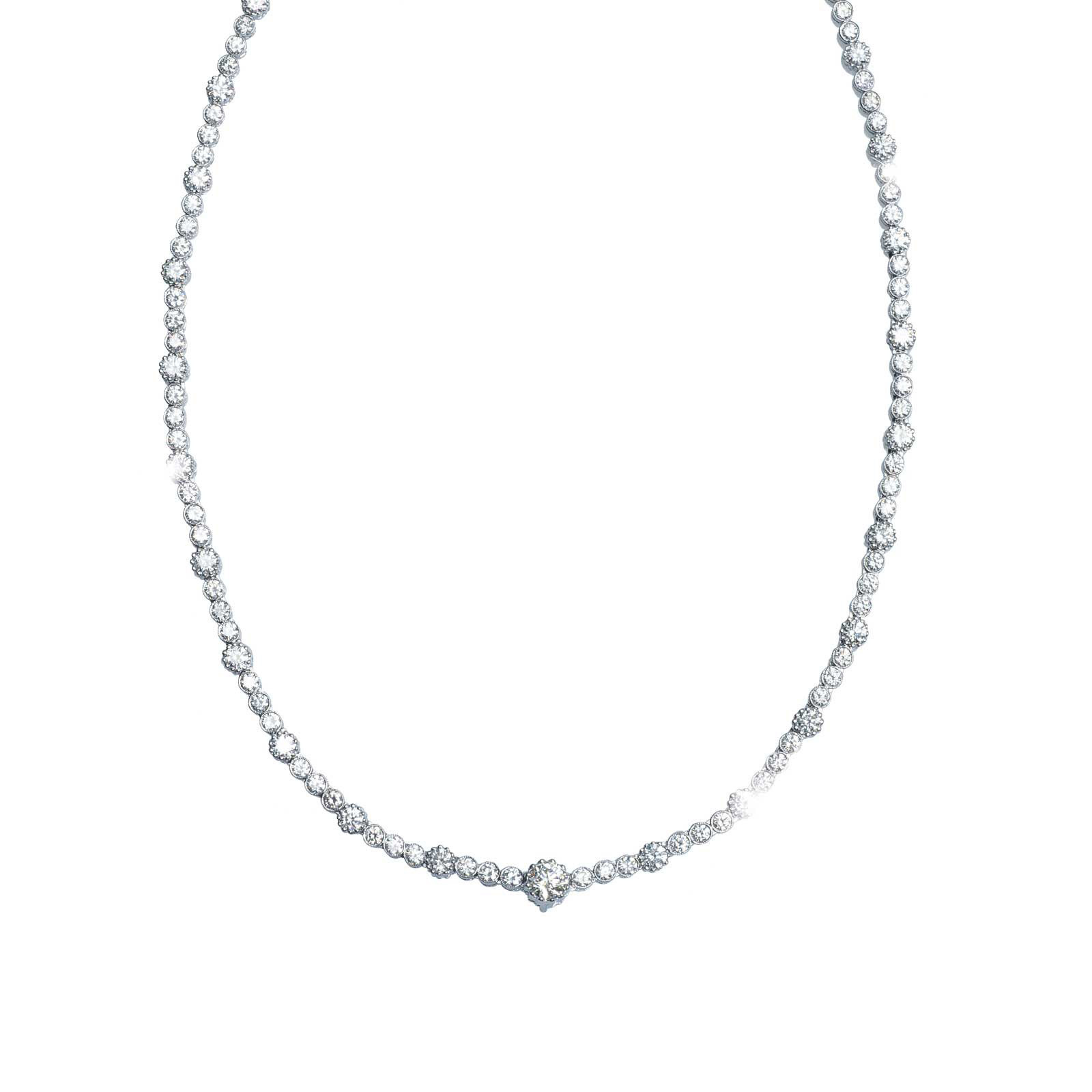 New 11.22 CTW Diamond Tennis Necklace