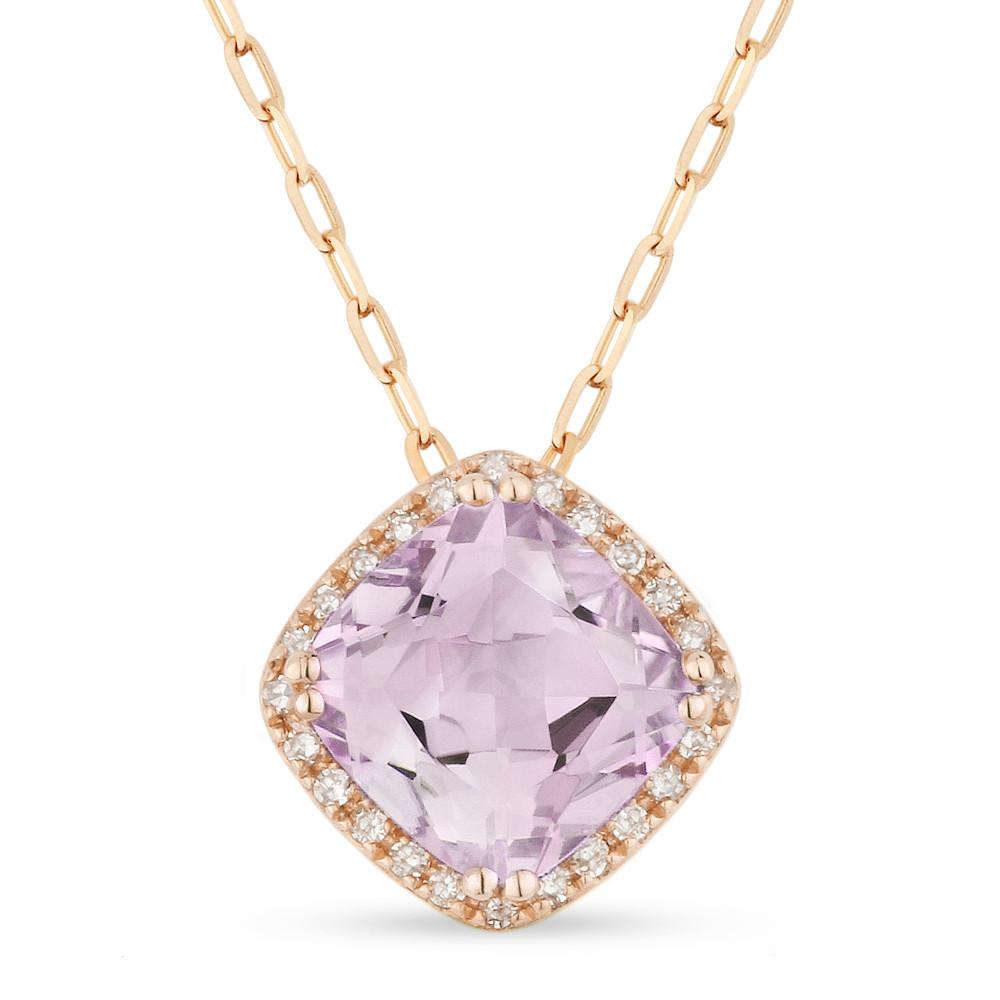 New Madison L 1.50 CTW Amethyst & Diamond Necklace