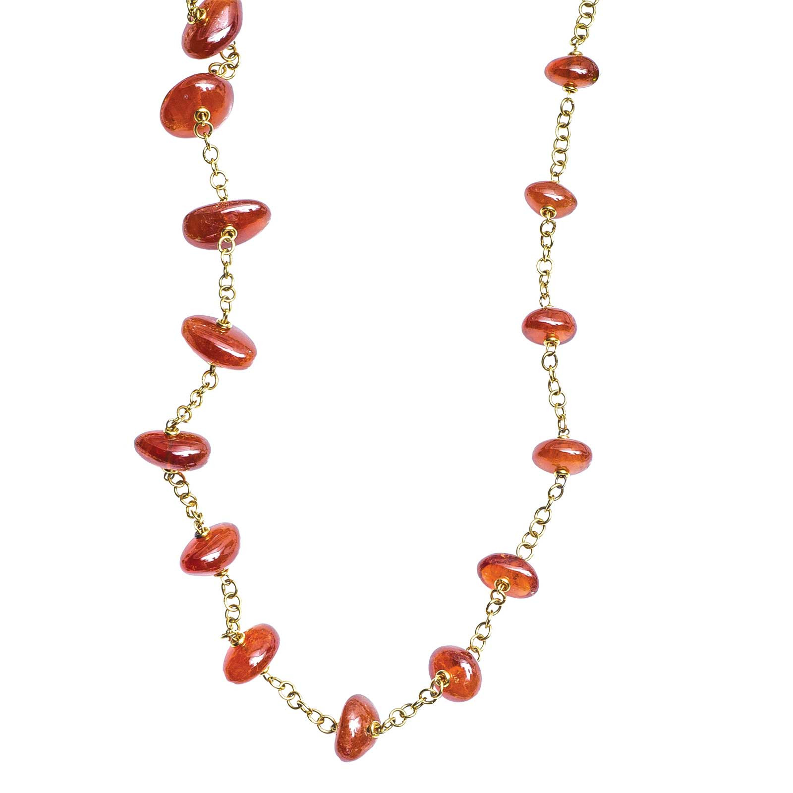 Vintage Spessartite Garnet Bead Necklace