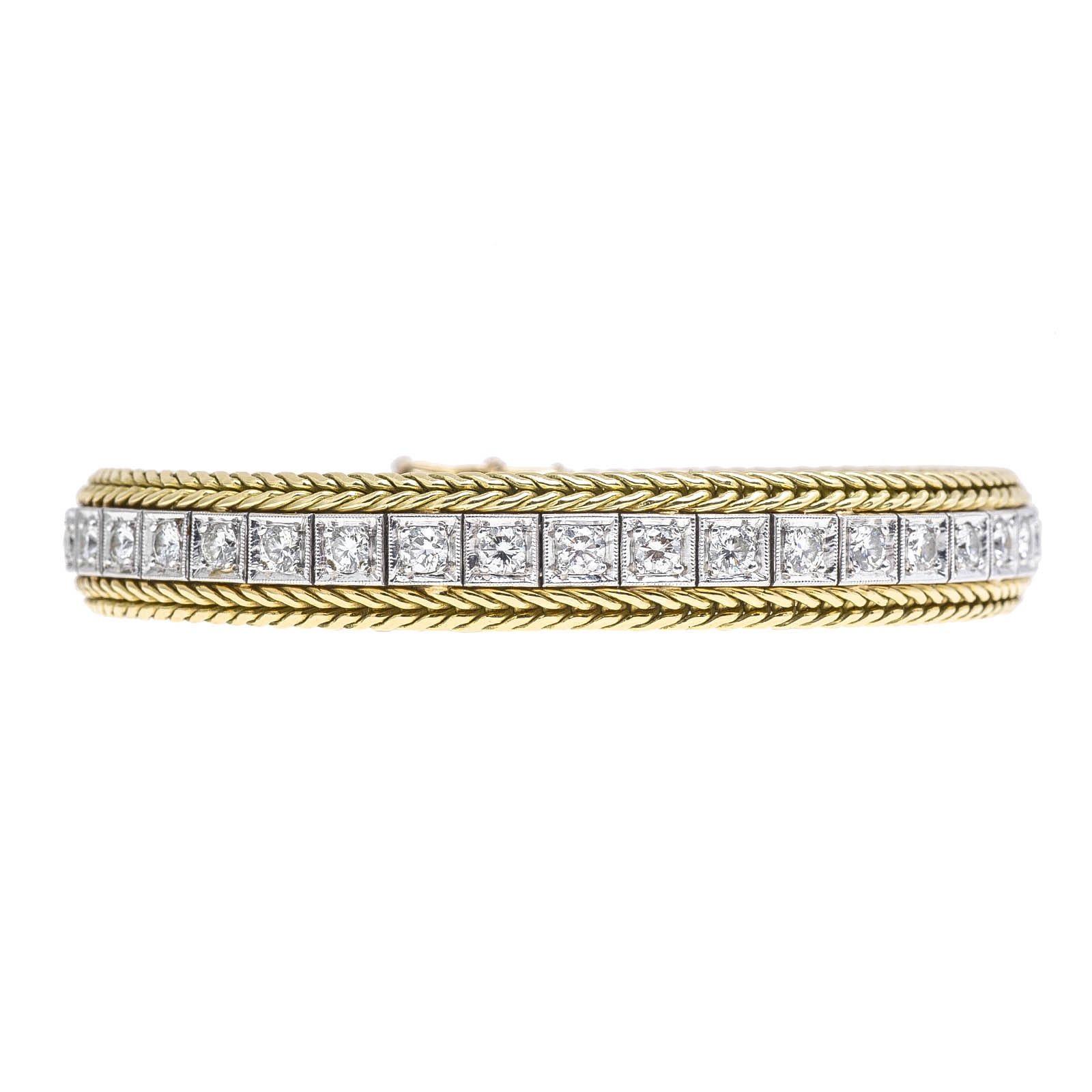 Vintage 3.12 CTW Diamond Tennis Bracelet