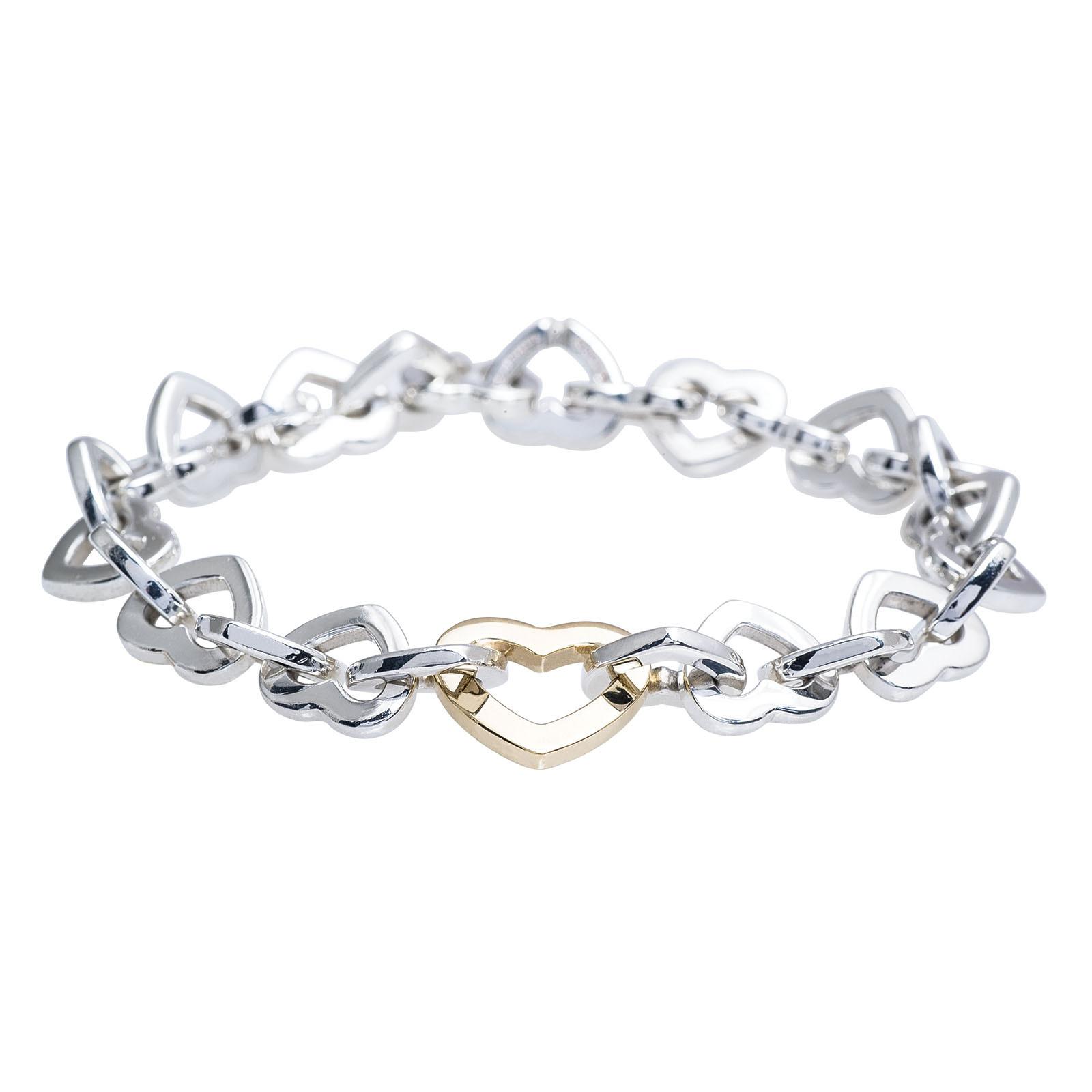 Vintage Tiffany & Co. Open Heart Link Bracelet
