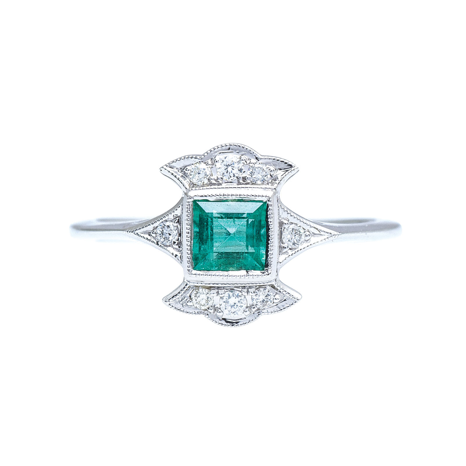 New Beverley K 0.42 CTW Emerald & Diamond Ring