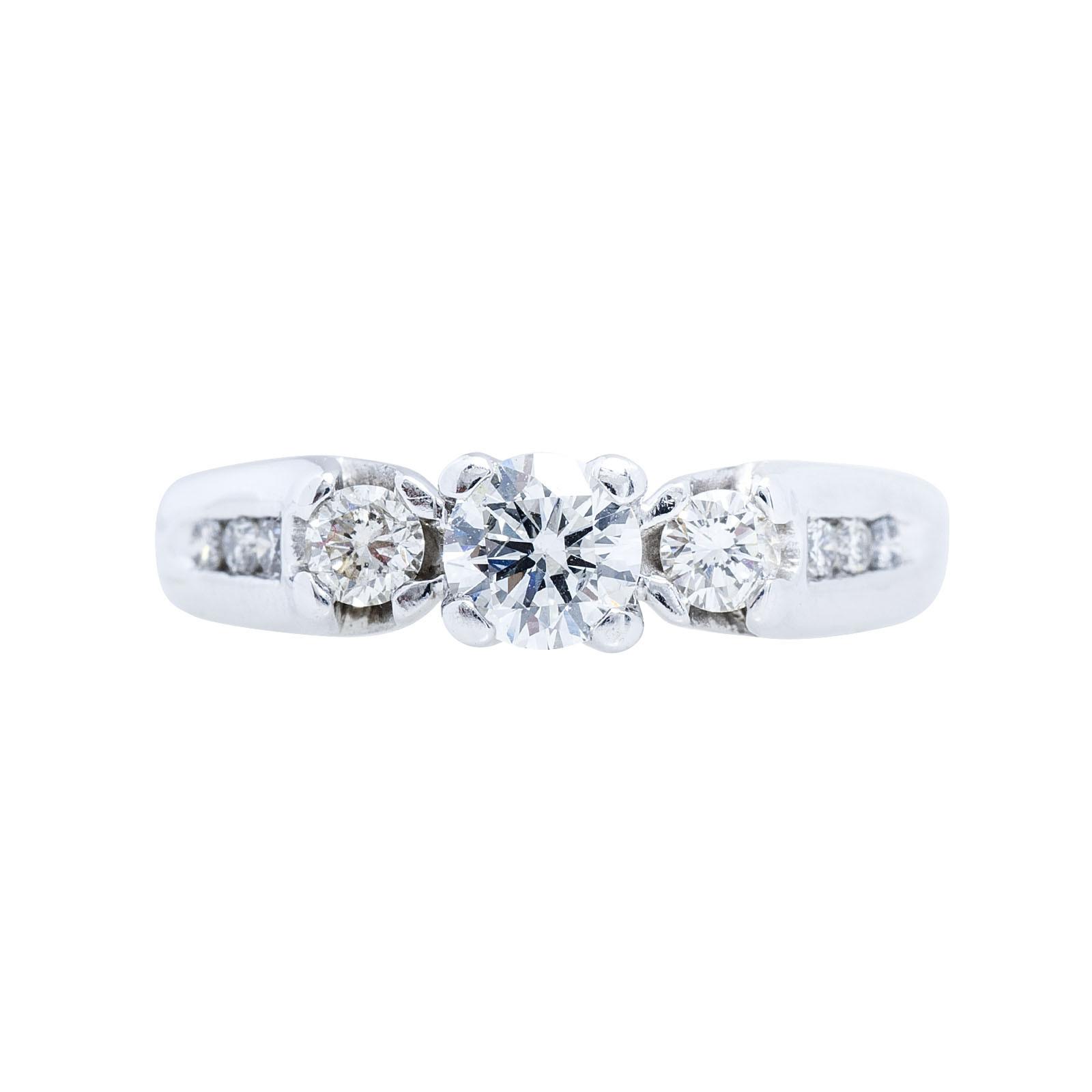 Vintage 0.72 CTW Diamond Engagement Ring